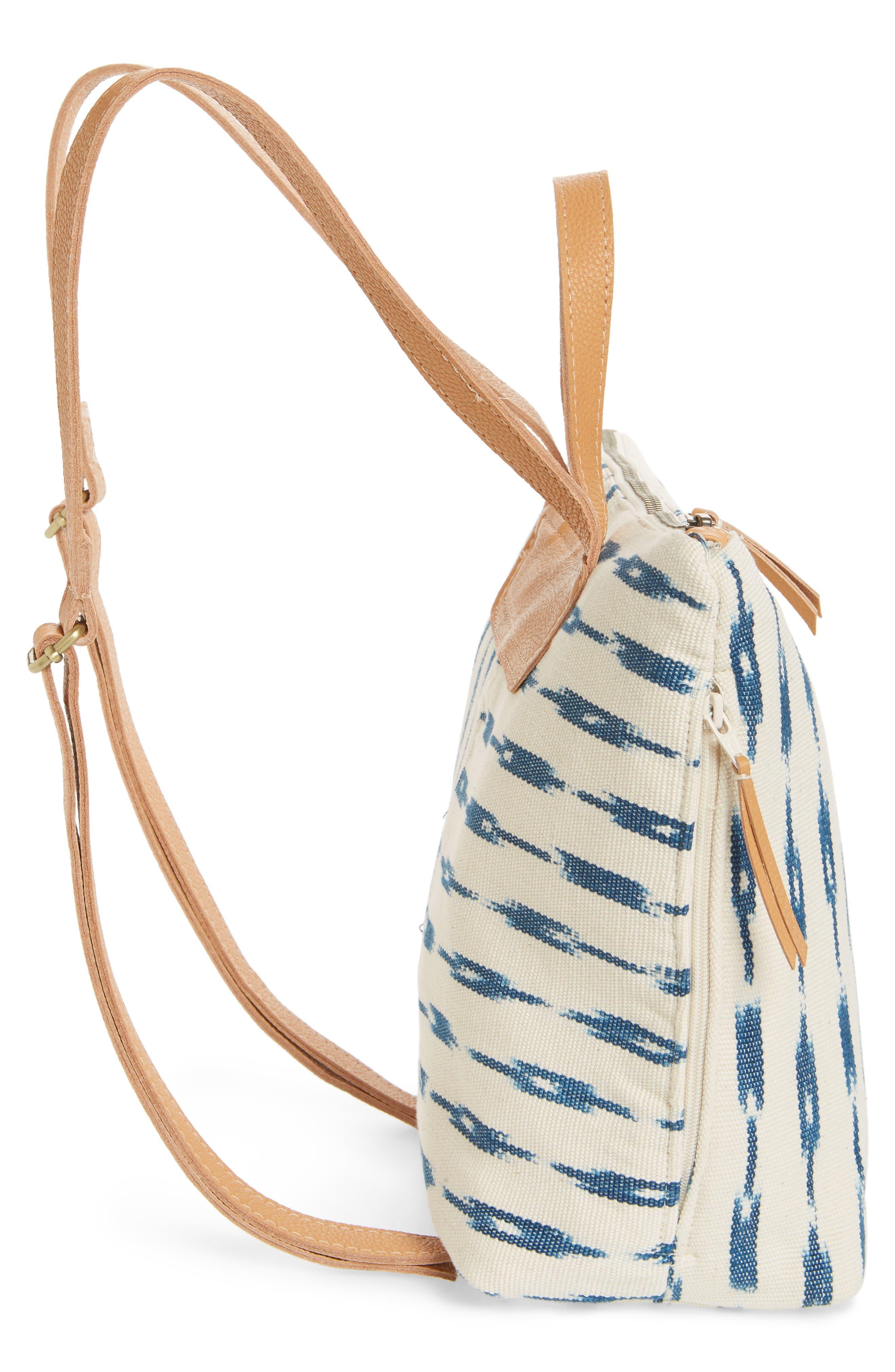 Mini Lobena Backpack,                             Alternate thumbnail 5, color,                             Indigo Jaspe