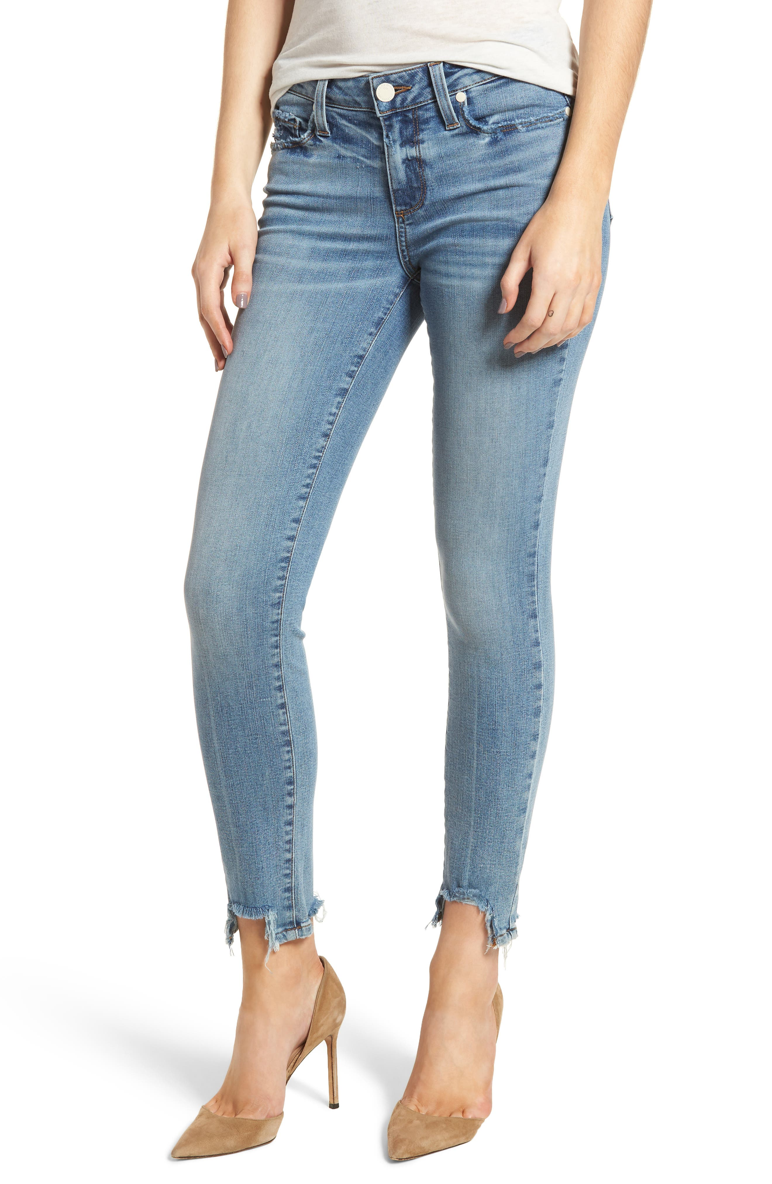 Transcend Vintage - Verdugo Ankle Ultra Skinny Jeans,                             Main thumbnail 1, color,                             Zahara