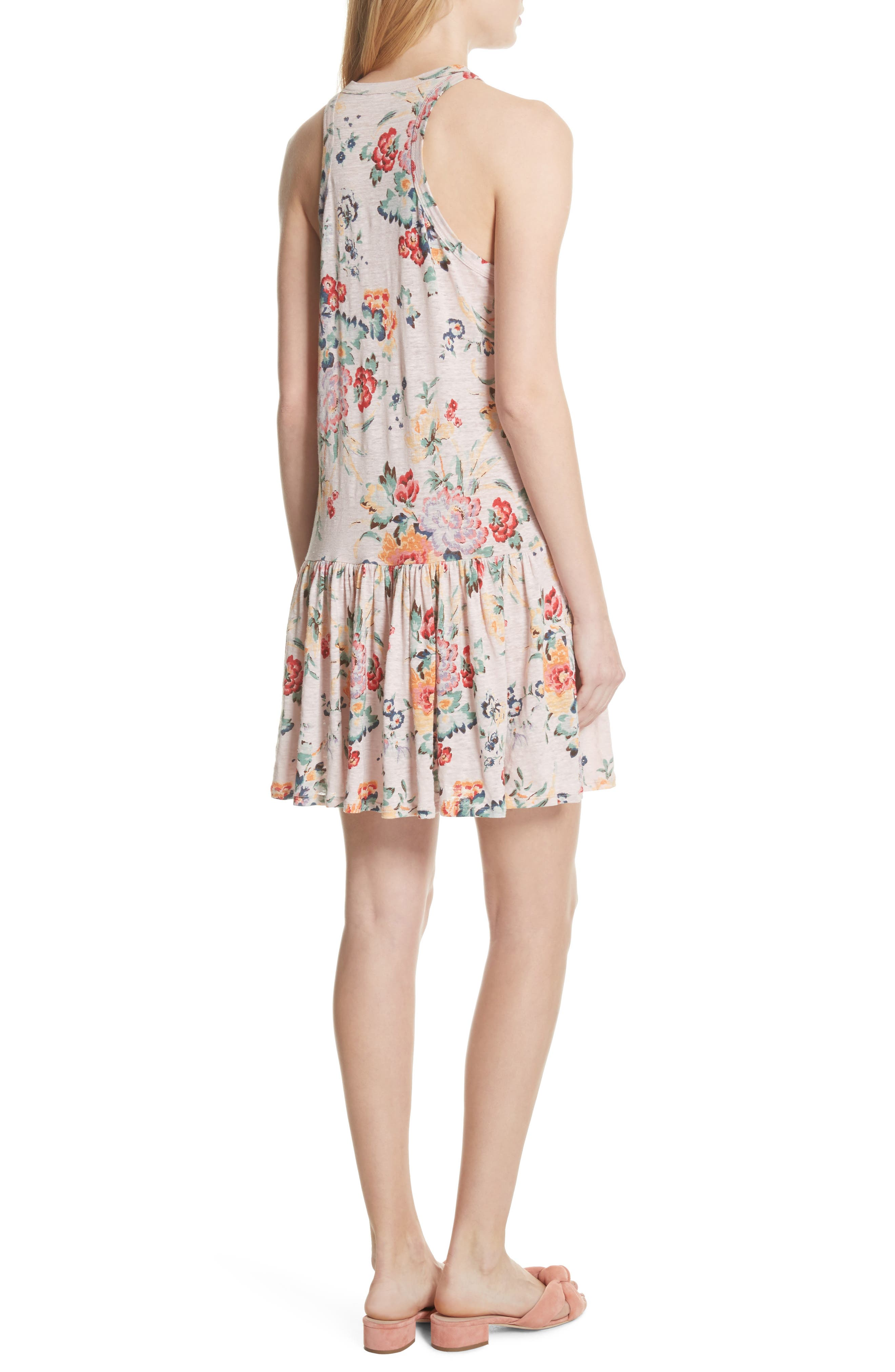Marlena Floral Jersey Dress,                             Alternate thumbnail 2, color,                             Dusty Rose Combo
