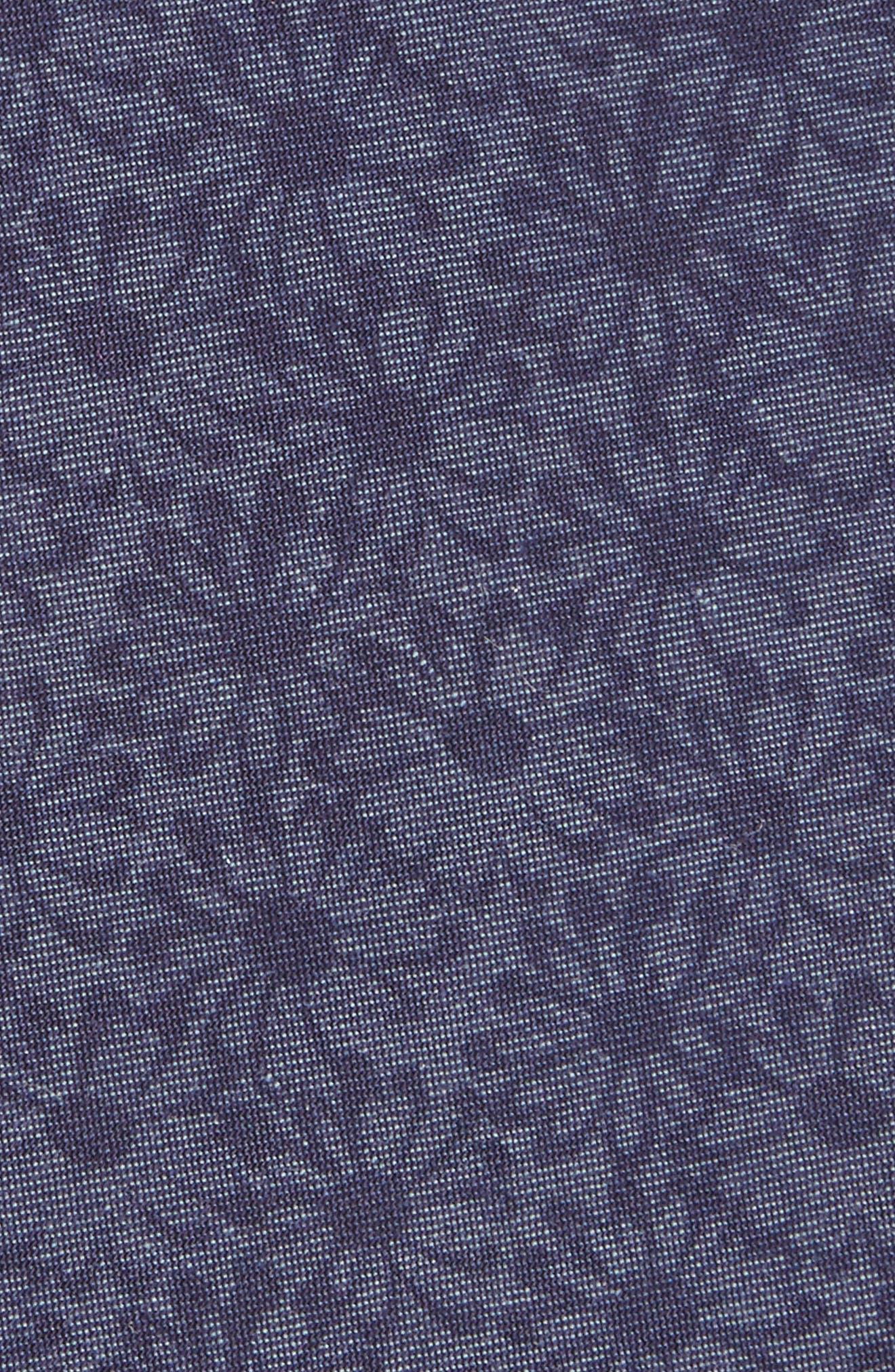 Floral Cotton Tie,                             Alternate thumbnail 2, color,                             Navy/ Daisy