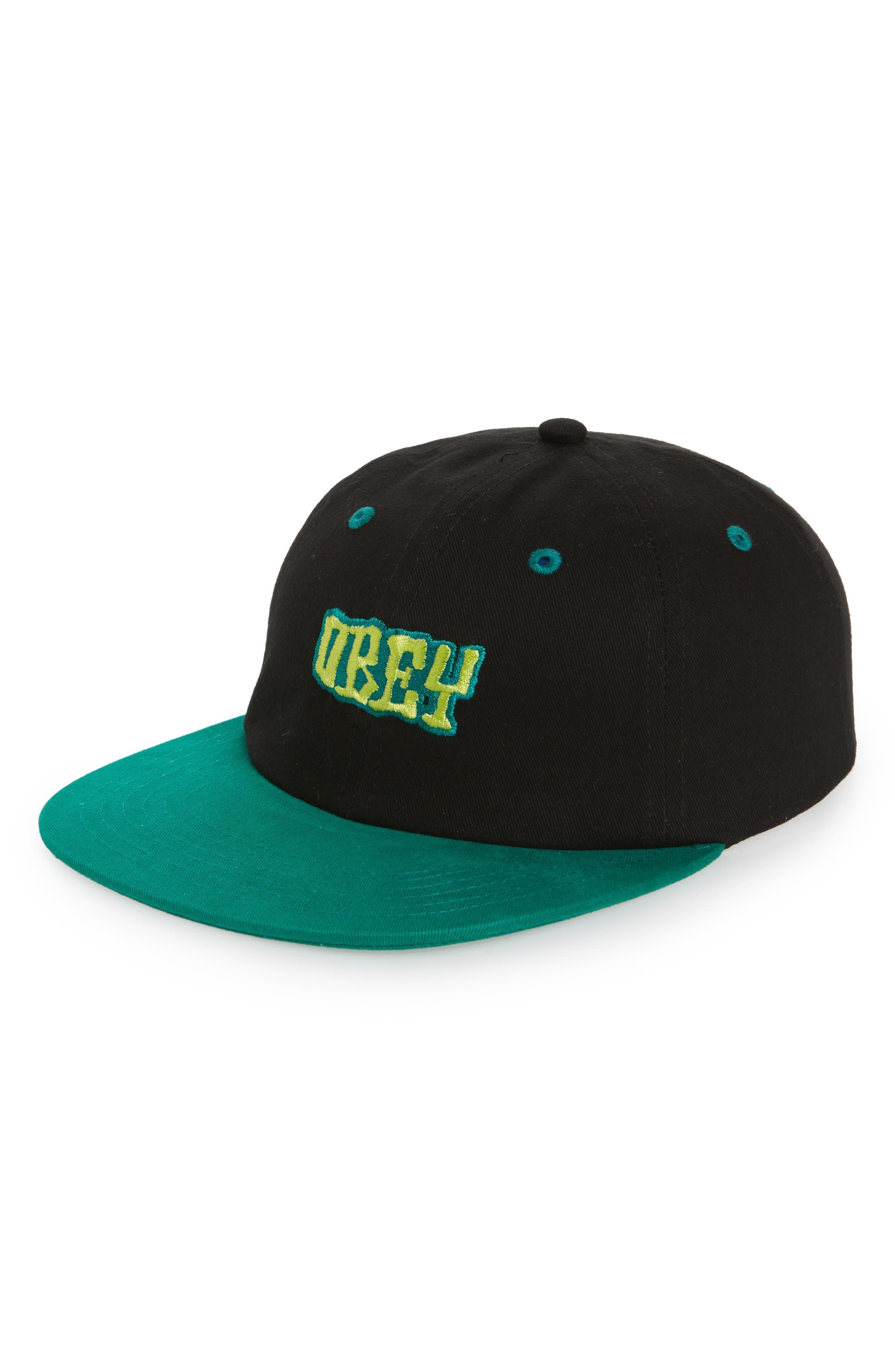 Better Days Snapback Cap,                         Main,                         color, Black