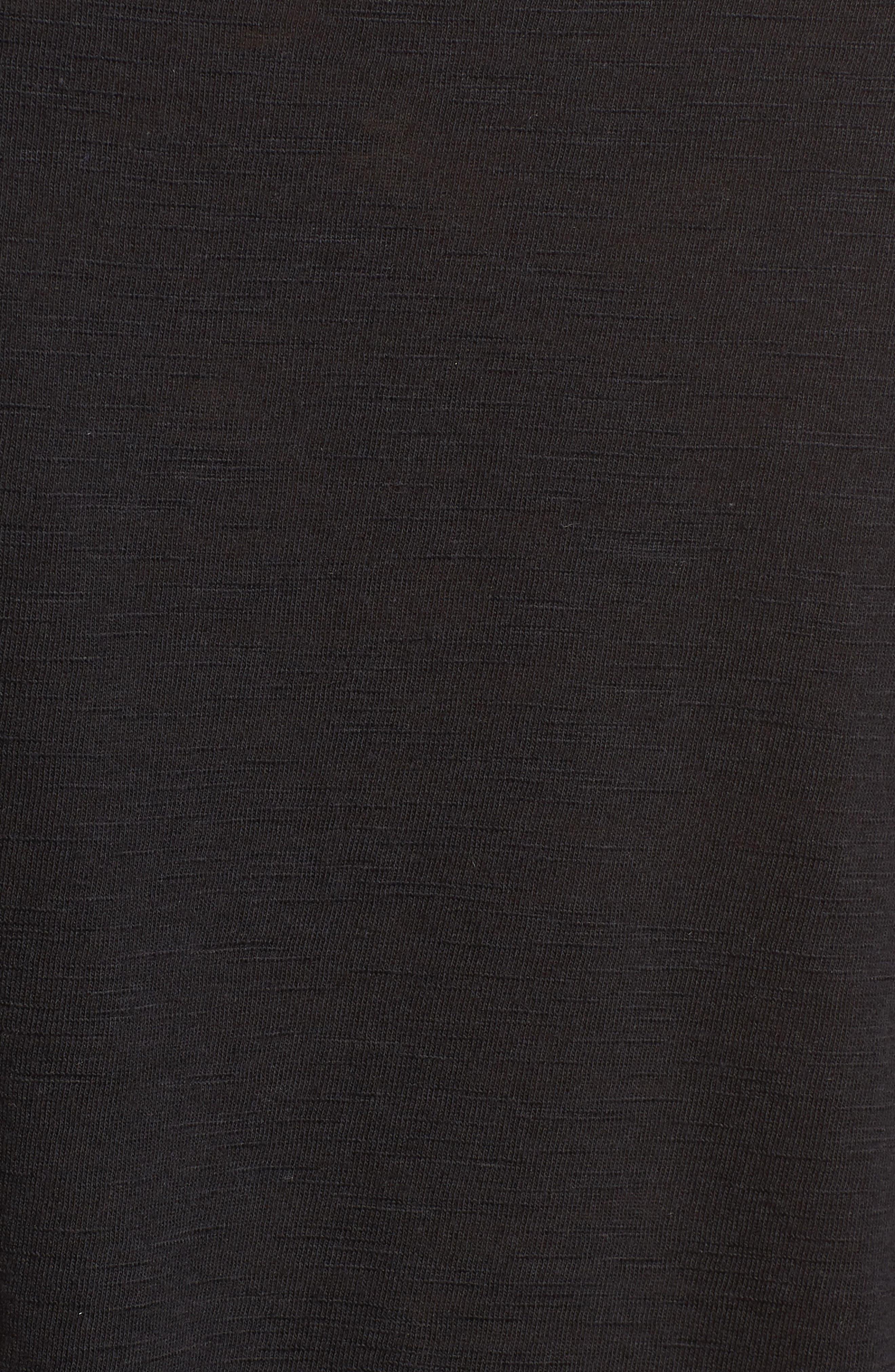Lace Hem Tank,                             Alternate thumbnail 6, color,                             Black