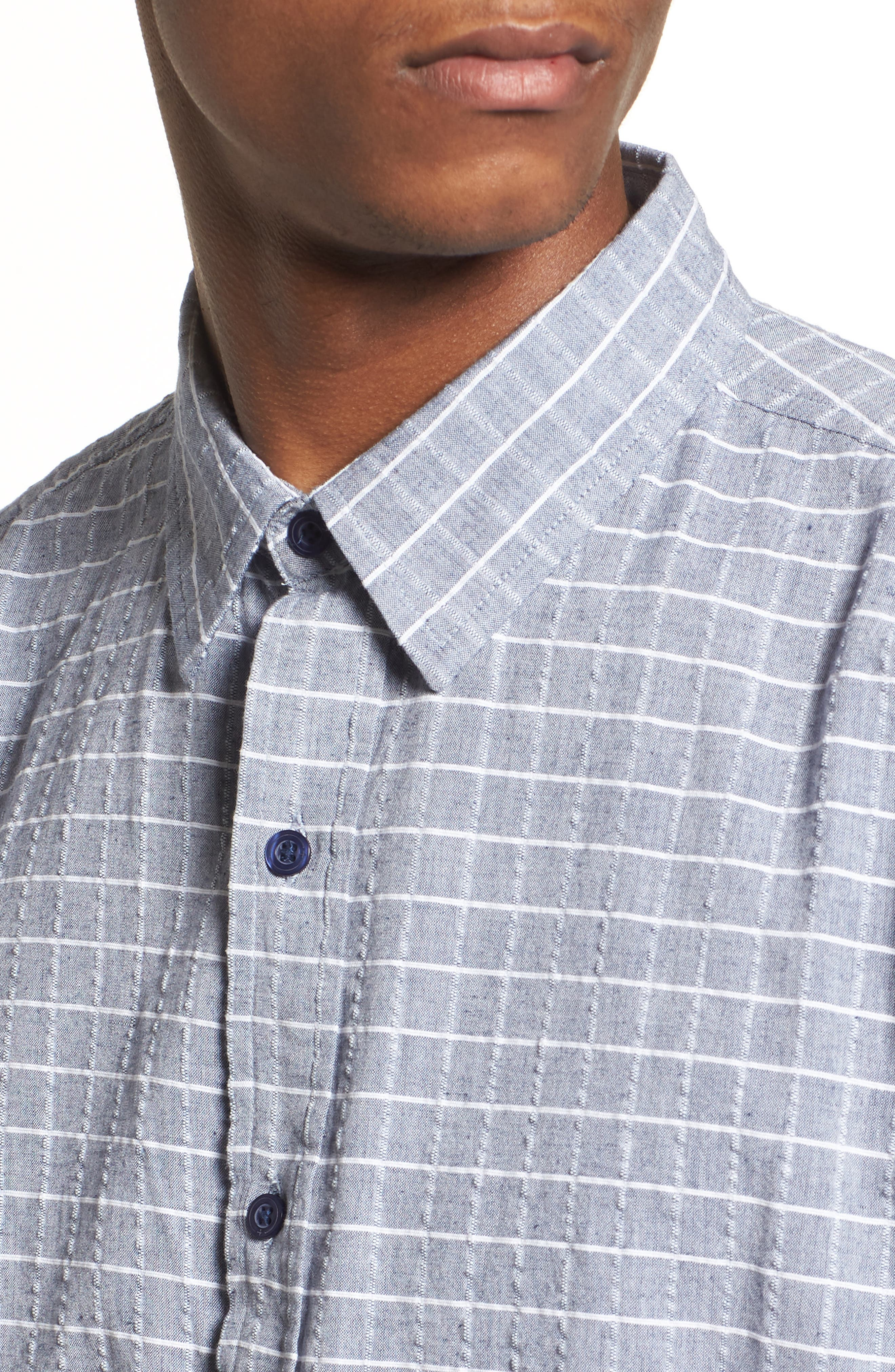 Wesley Woven Shirt,                             Alternate thumbnail 2, color,                             True Blue Stripe