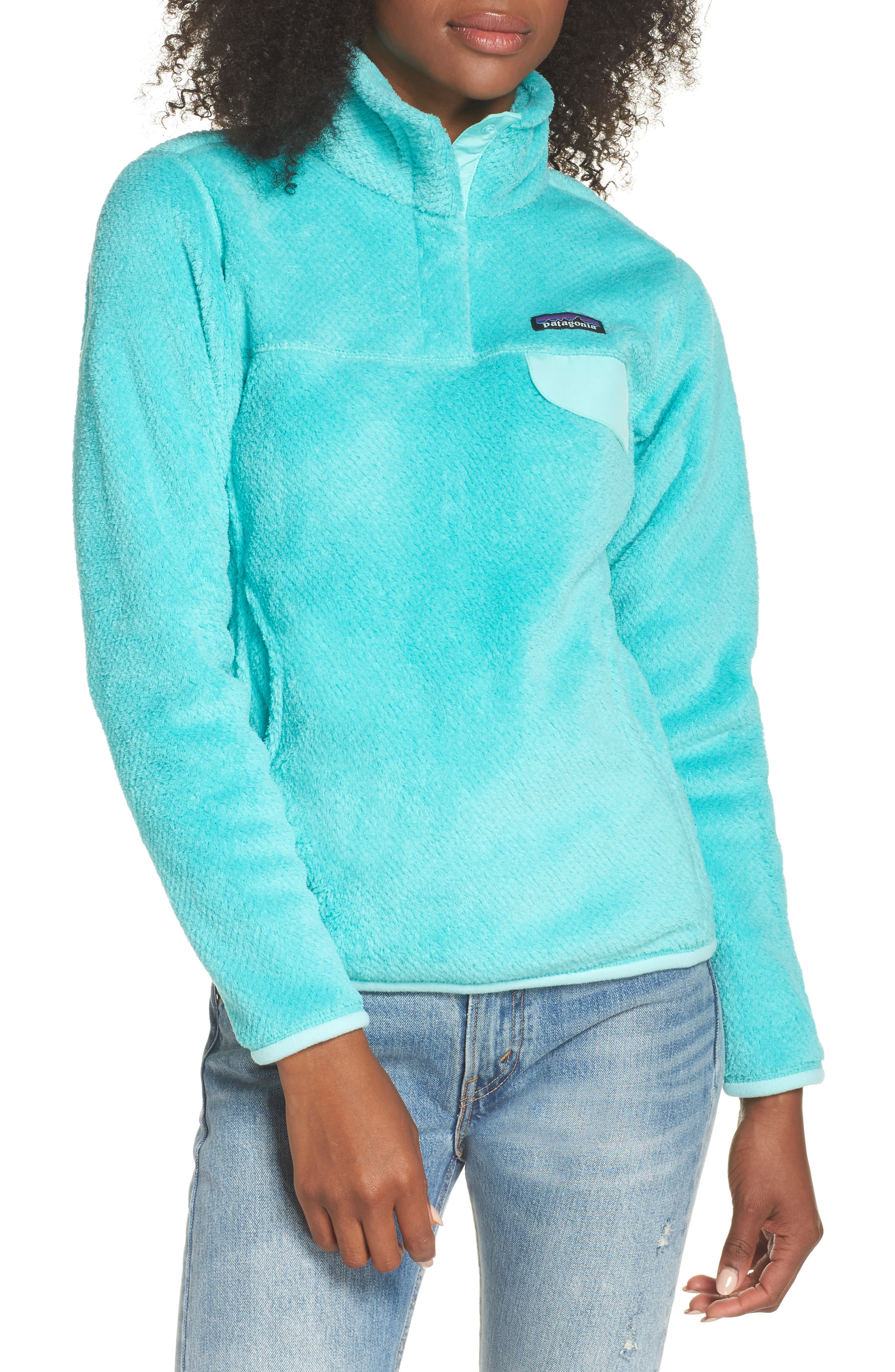 Re-Tool Snap-T<sup>®</sup> Fleece Pullover,                         Main,                         color, Bend Blue/ Strait Blue X Dye