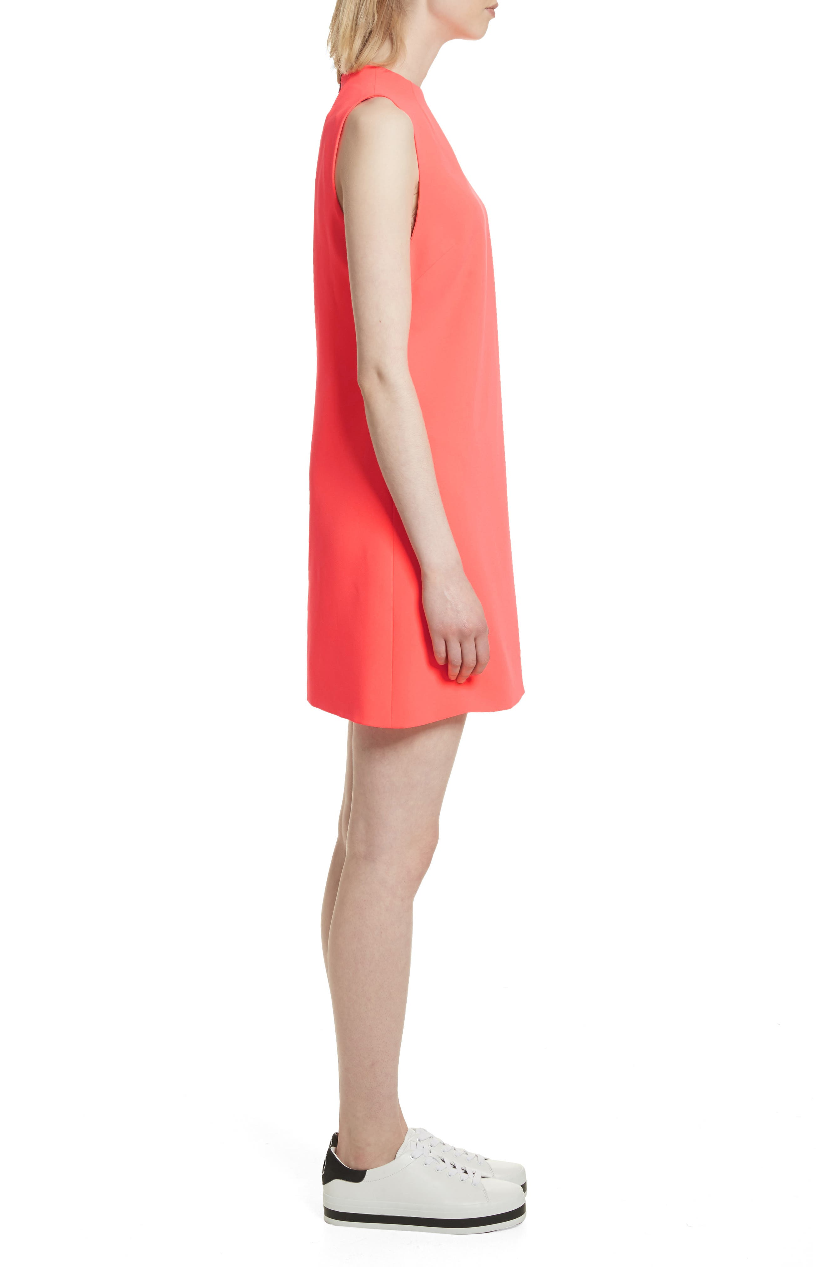 Coley A-Line Shift Dress,                             Alternate thumbnail 3, color,                             Neon Coral