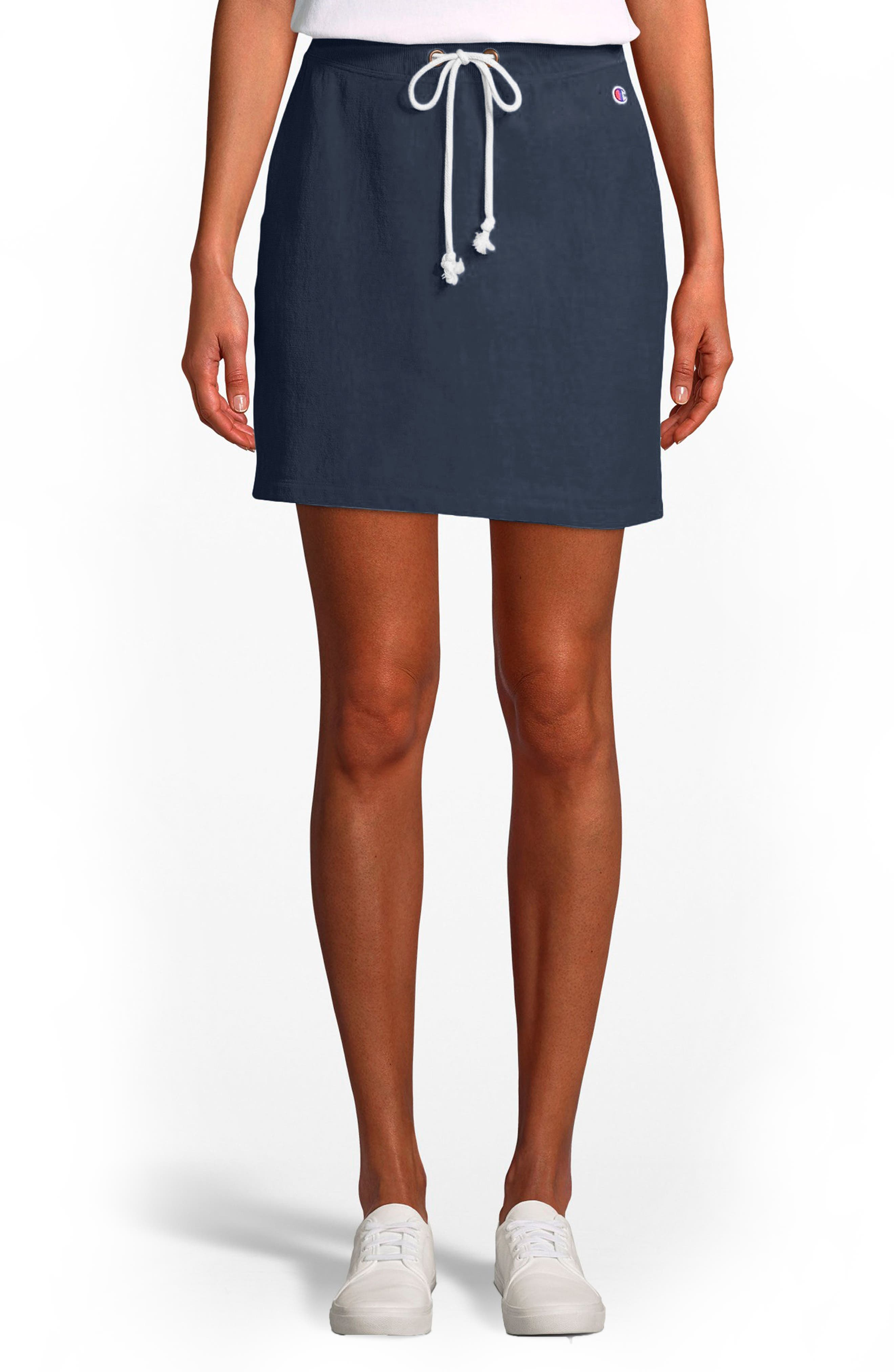Terry Skirt,                         Main,                         color, Navy