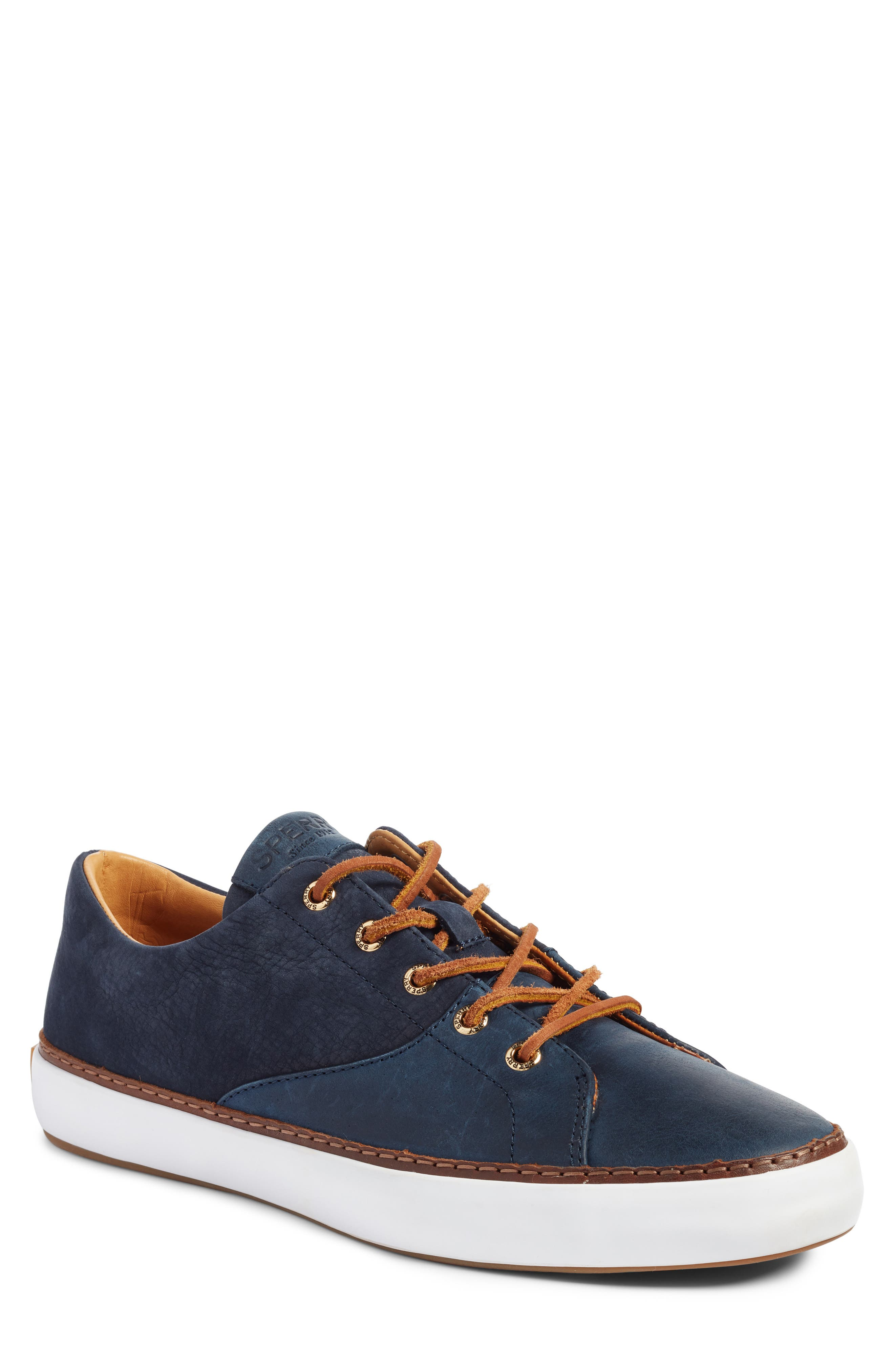 Gold Cup Haven Sneaker,                             Main thumbnail 1, color,                             Navy Leather