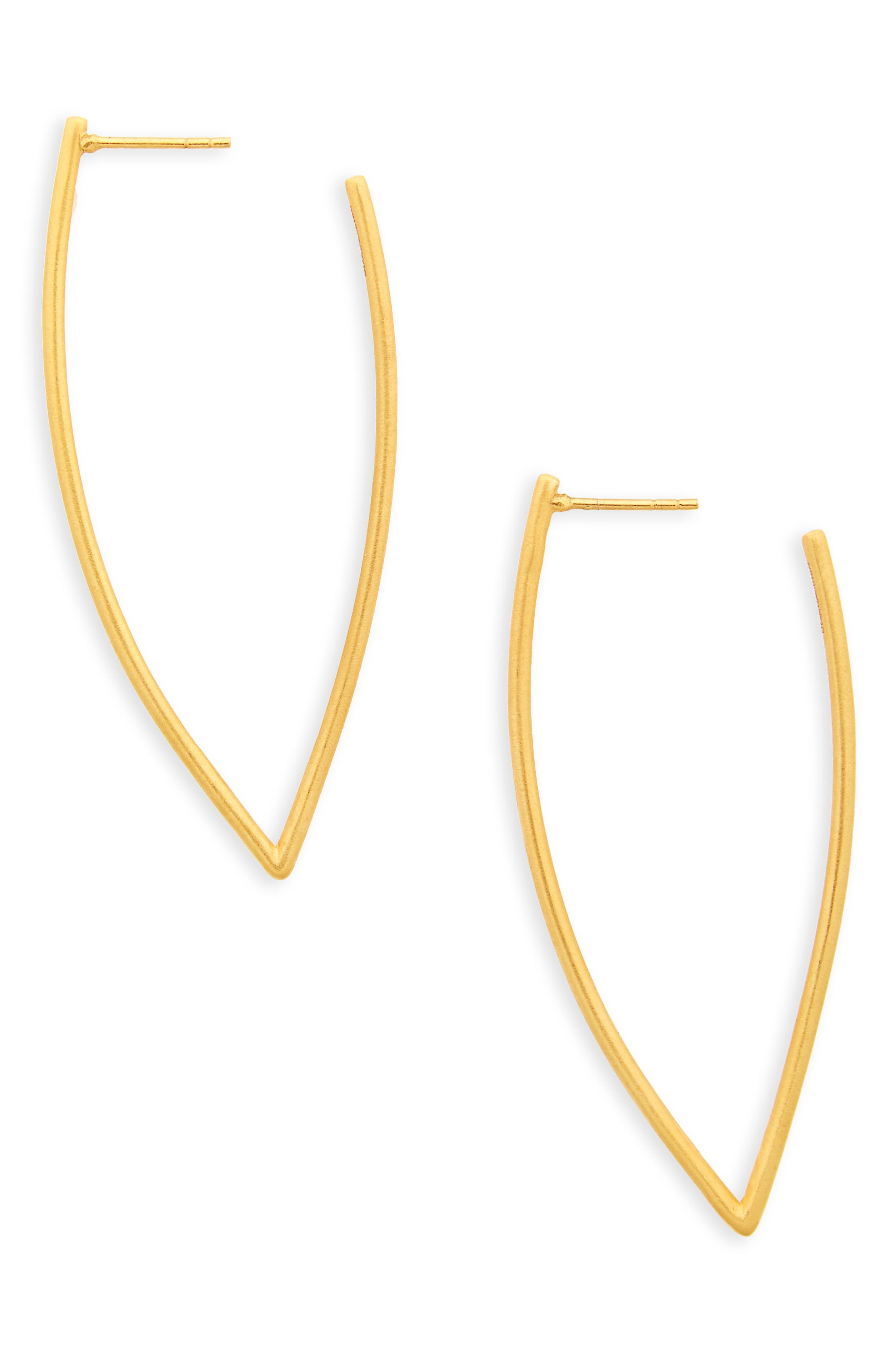 Taj Frame Hoops,                             Main thumbnail 1, color,                             Gold