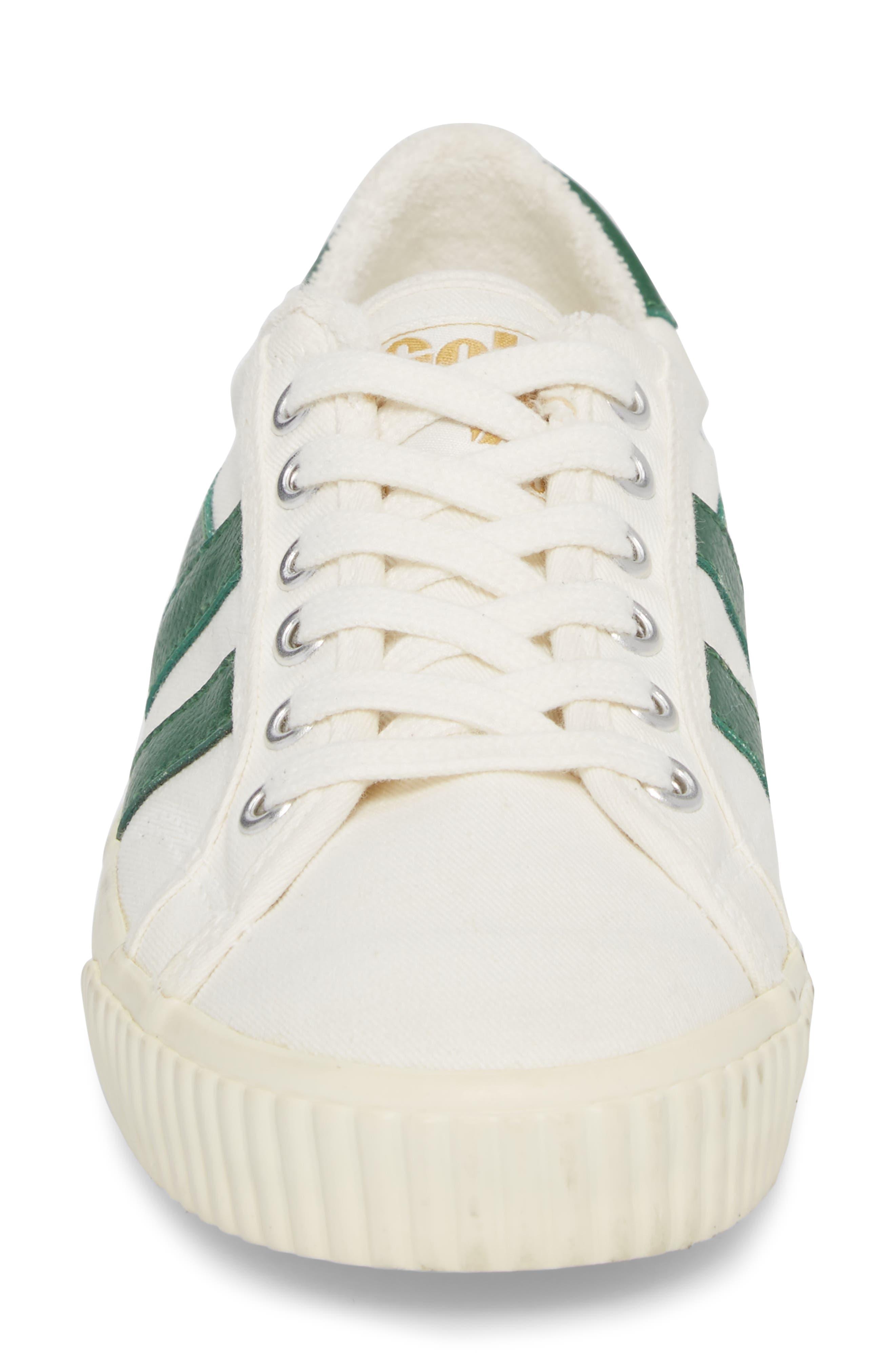 Tennis Mark Cox Sneaker,                             Alternate thumbnail 4, color,                             Off White/ Green