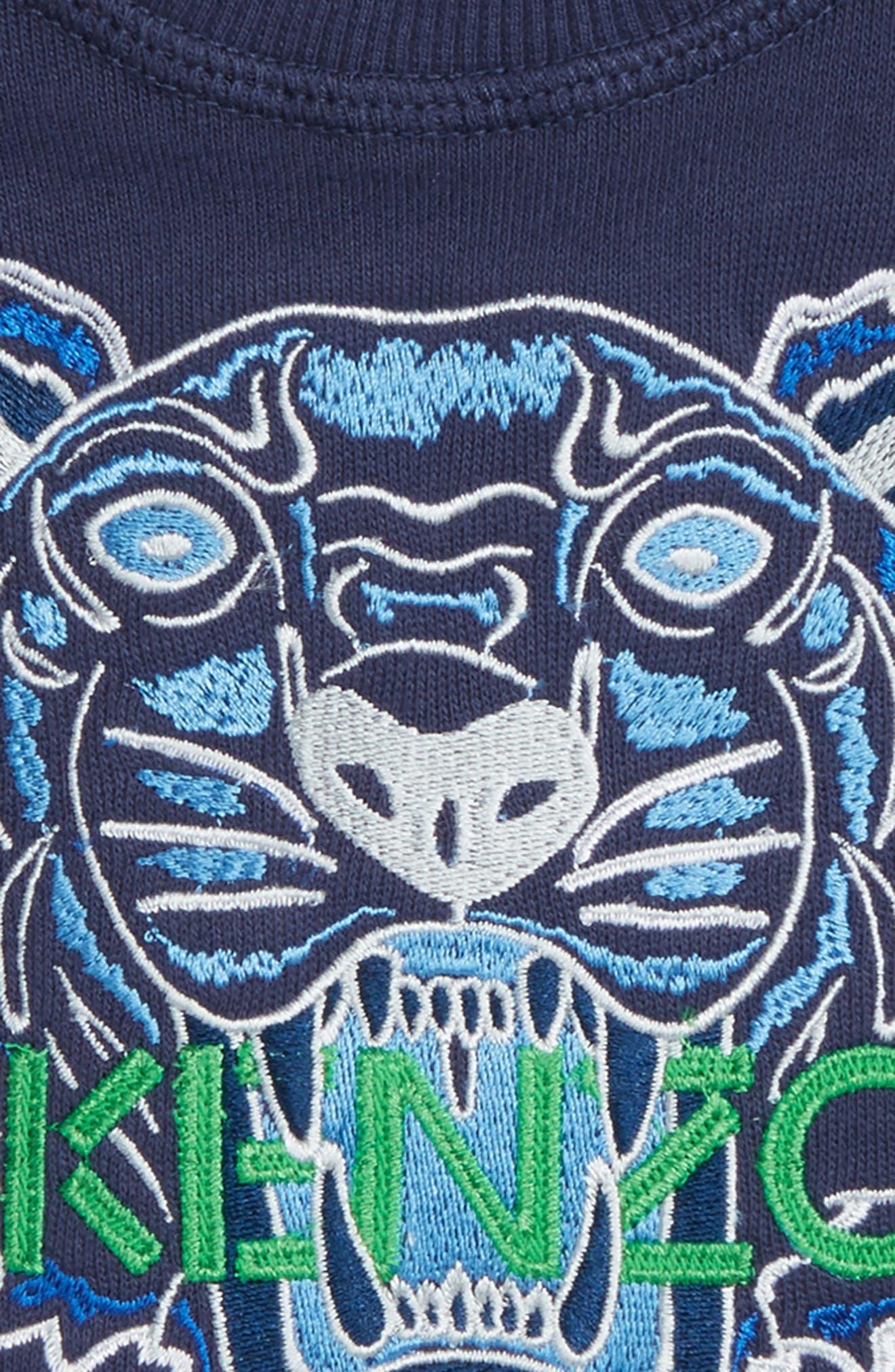 Embroidered Tiger Logo Sweatshirt,                             Alternate thumbnail 2, color,                             Navy