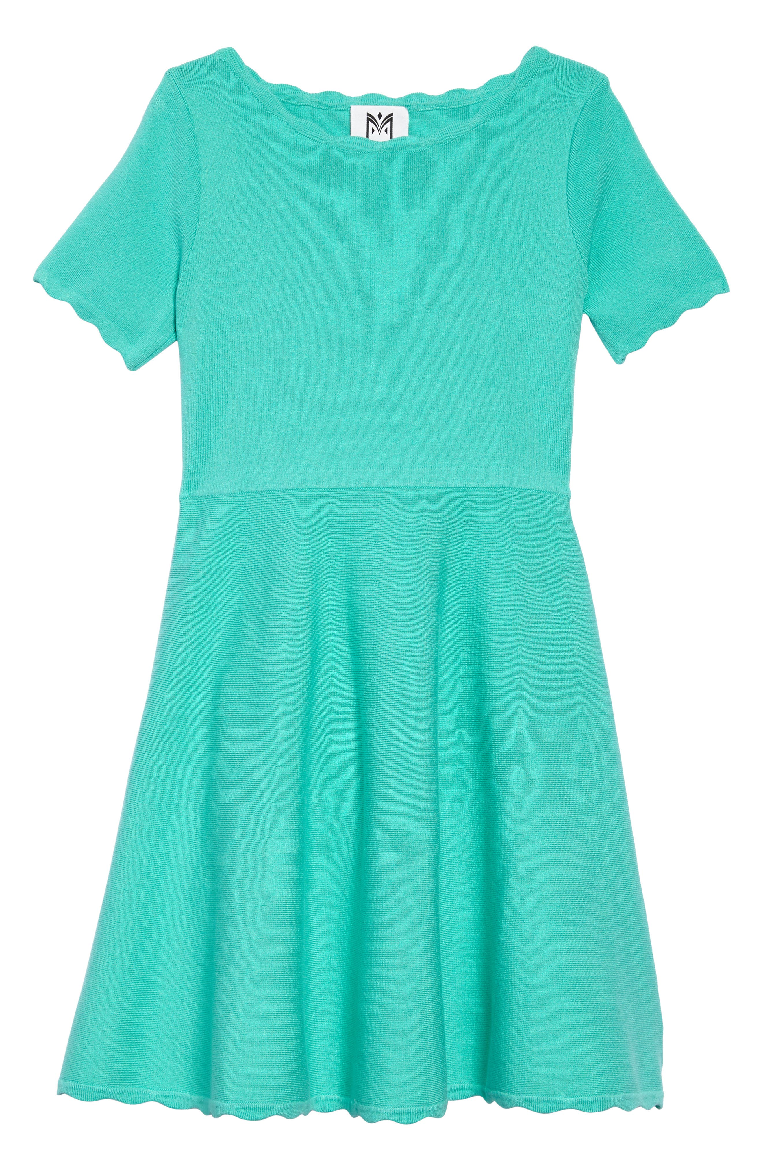 Milly Minis Scallop Edge Fit & Flare Dress (Big Girls)