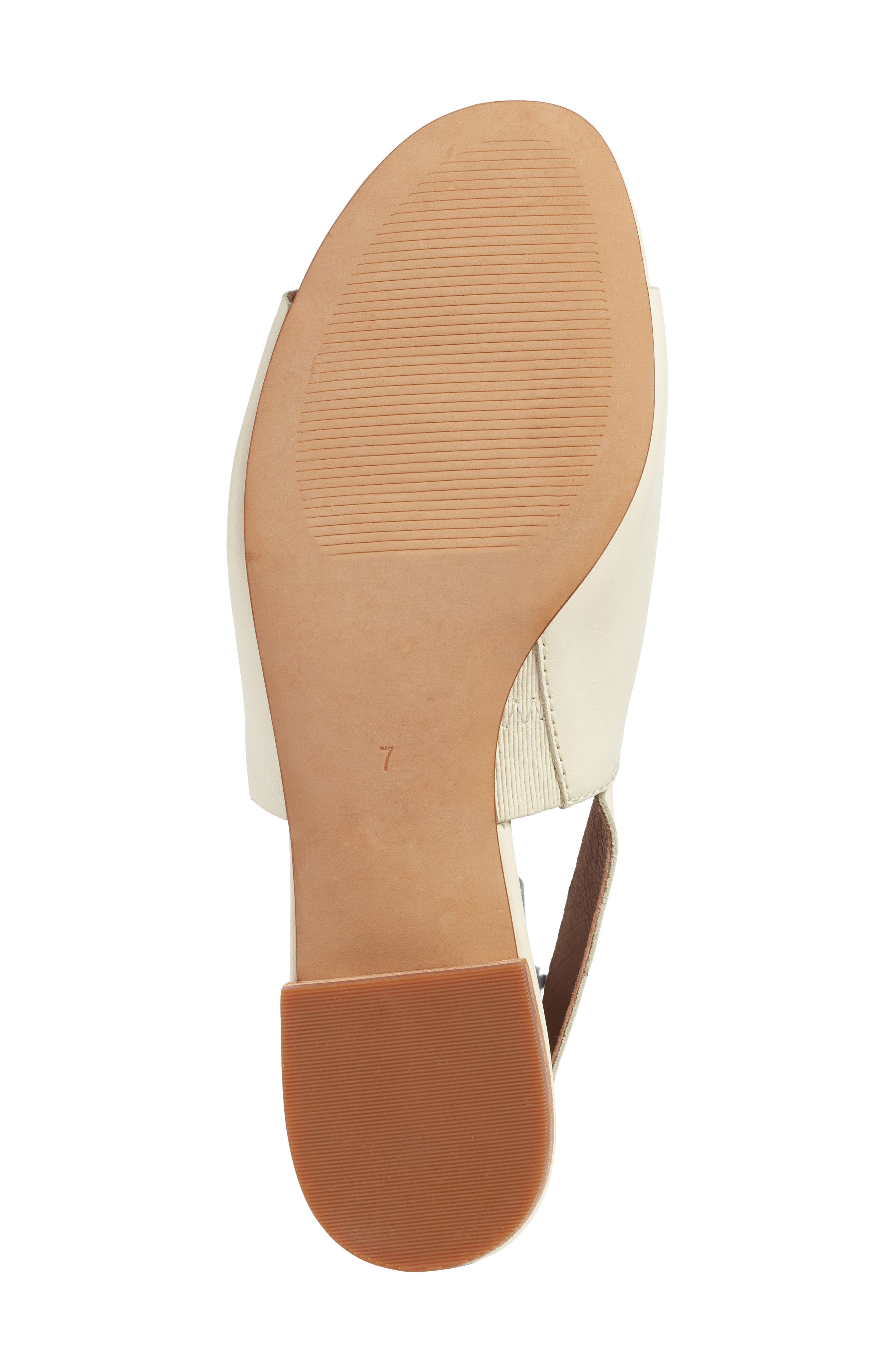 Noelle Slingback Sandal,                             Alternate thumbnail 6, color,                             Vintage Canvas Leather