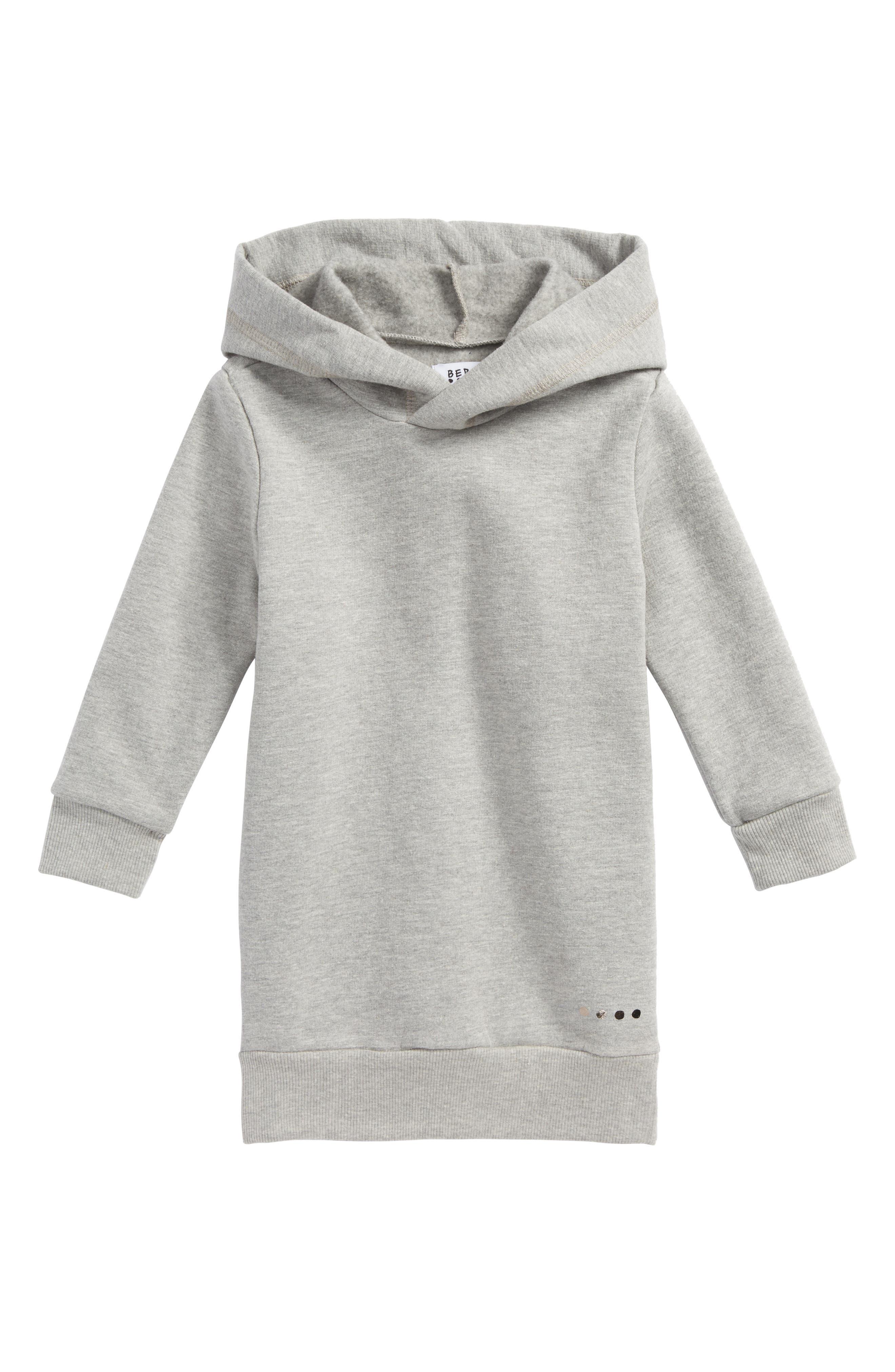 Luna Hooded Sweatshirt Dress,                         Main,                         color, Heather Grey
