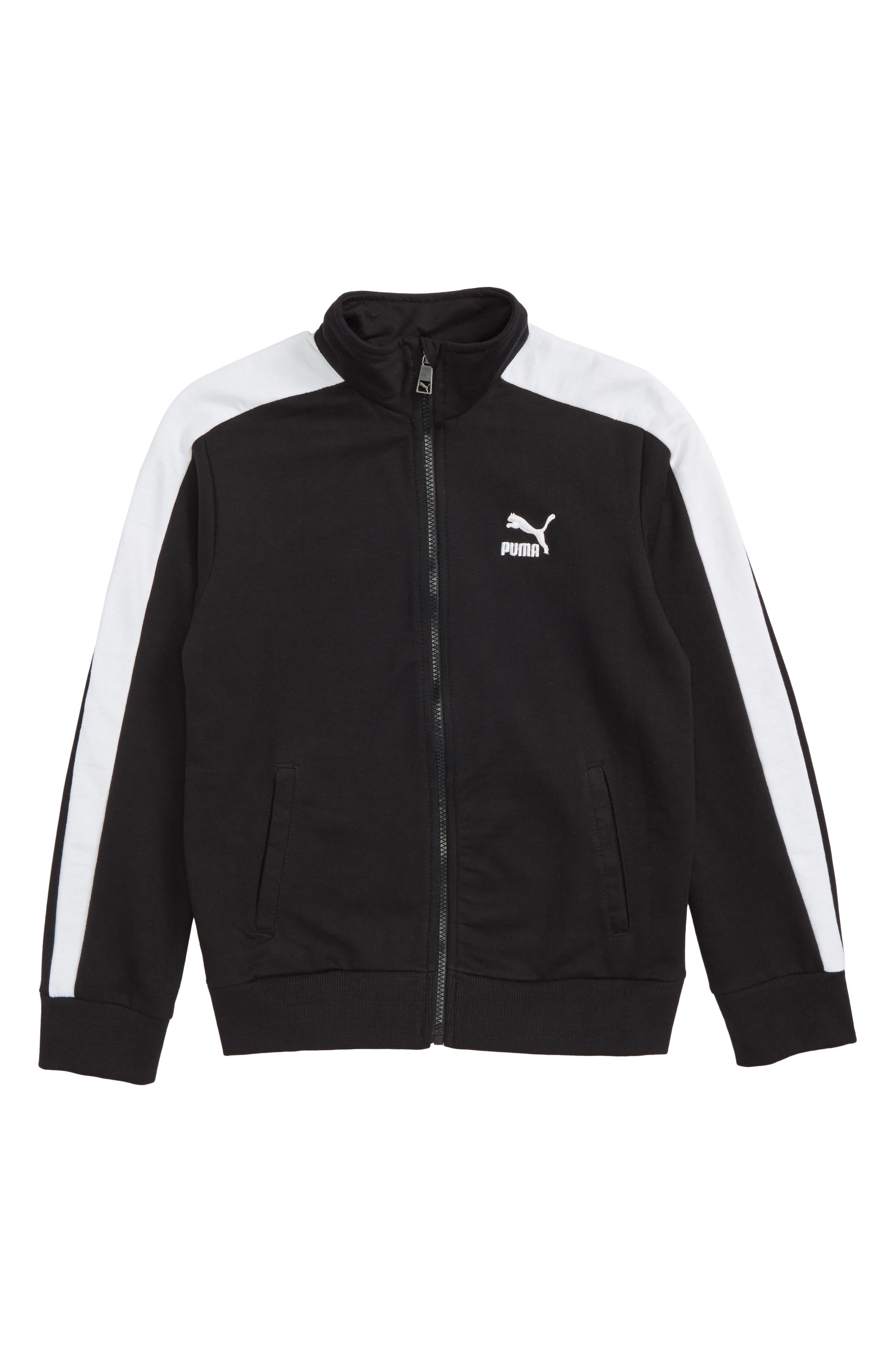 T7 Track Jacket,                             Main thumbnail 1, color,                             Puma Black
