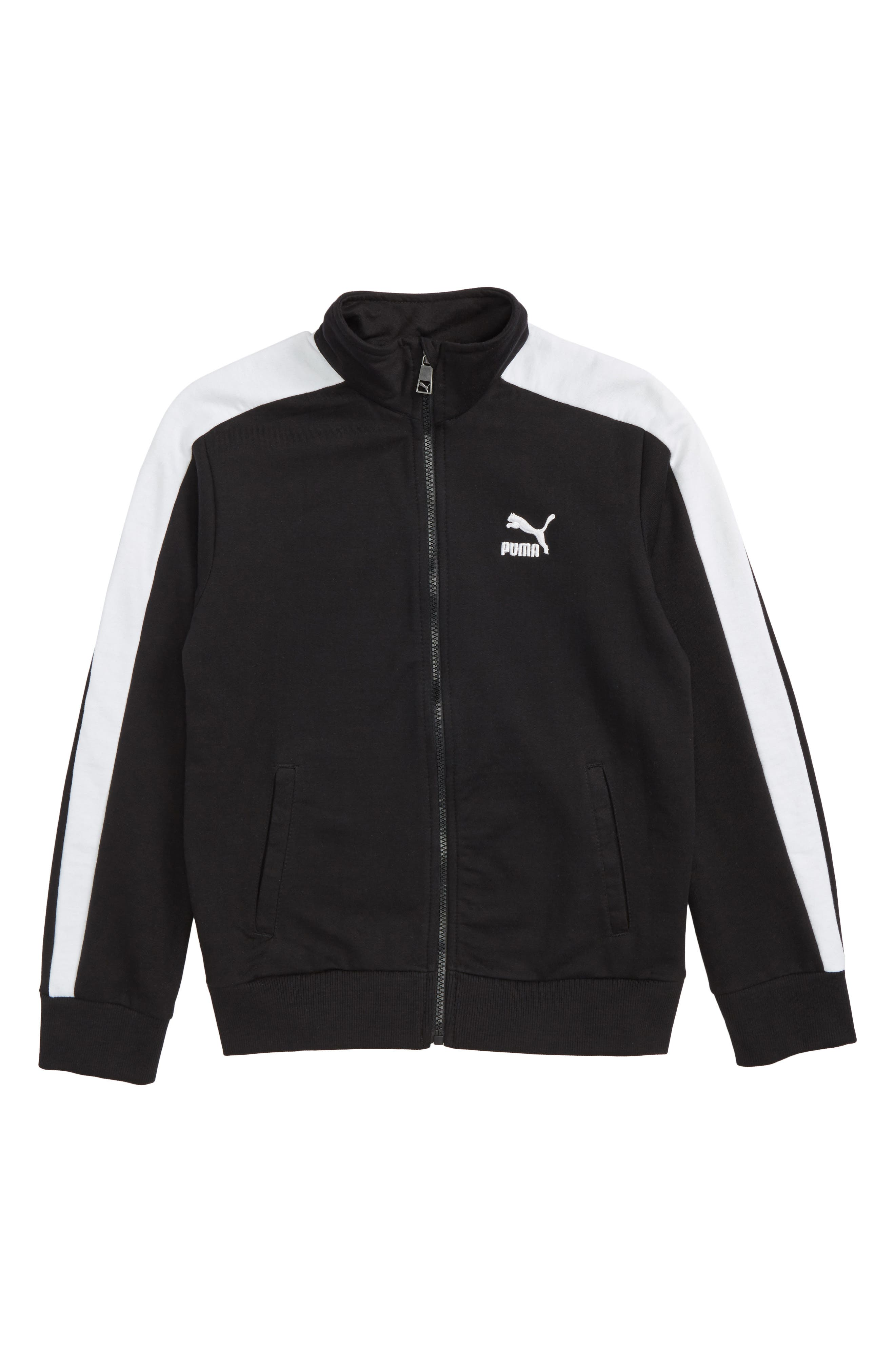 T7 Track Jacket,                         Main,                         color, Puma Black
