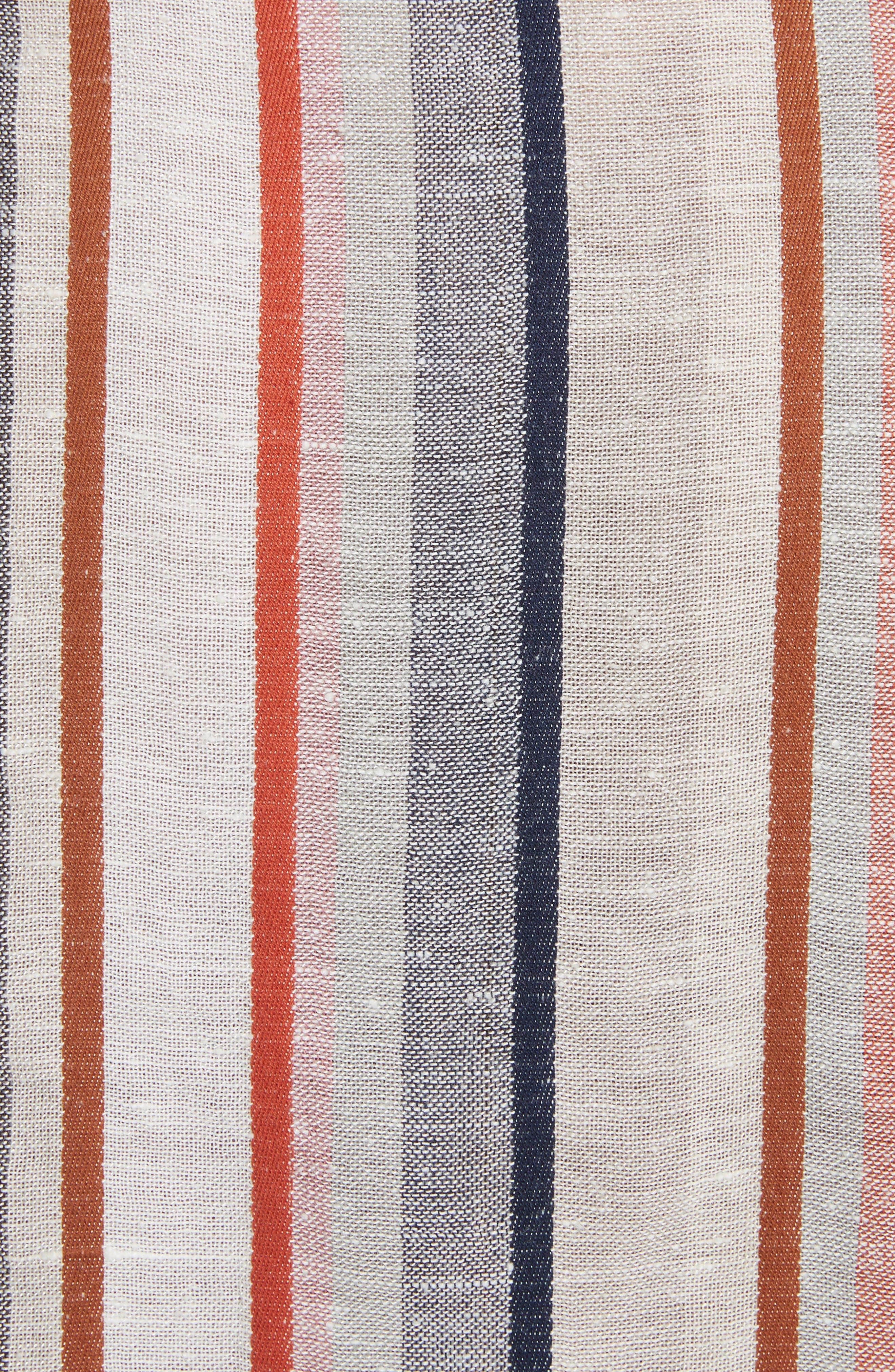 Wrap It Up Stripe Wrap Dress,                             Alternate thumbnail 5, color,                             Assort