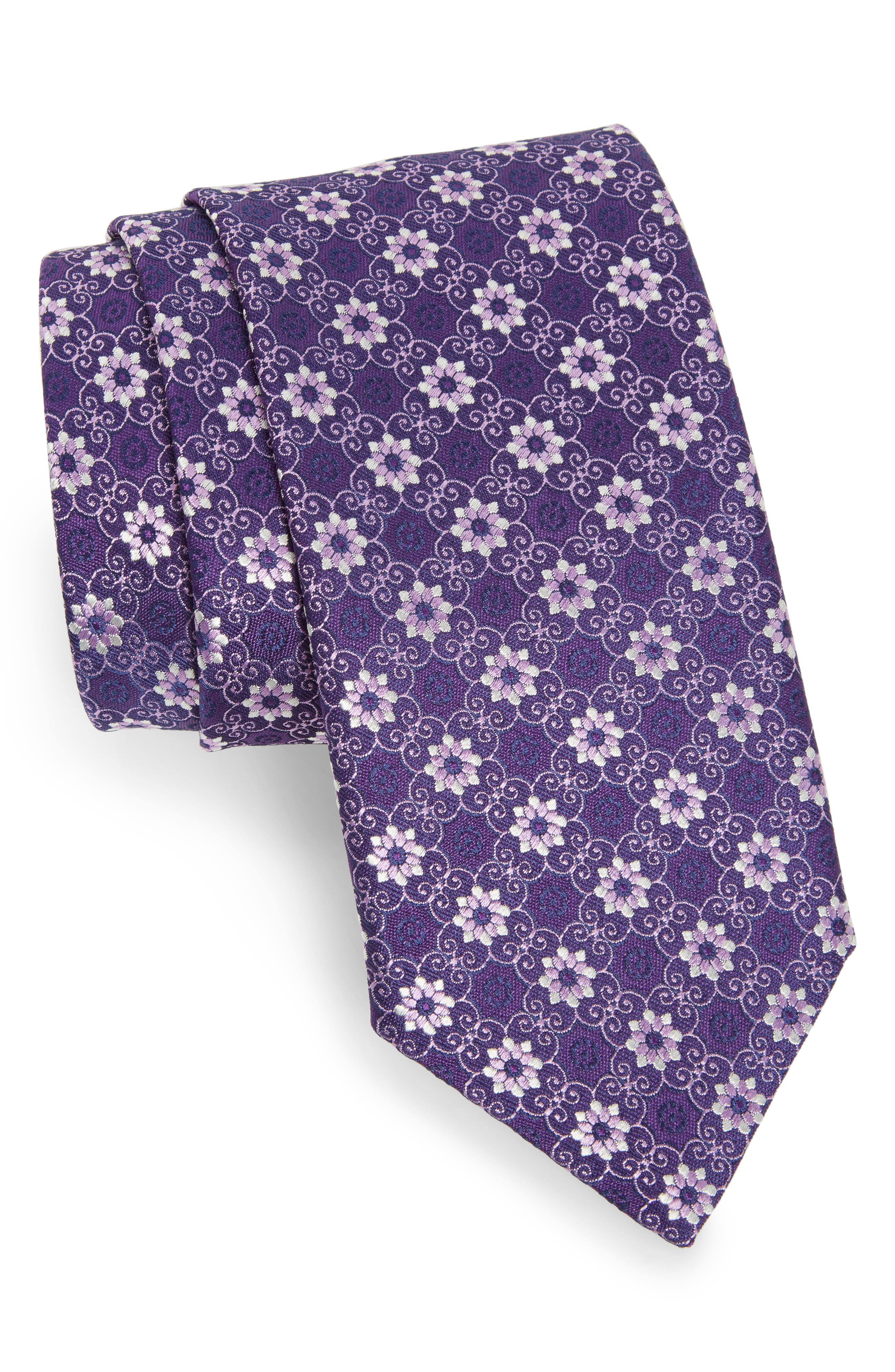 Alternate Image 1 Selected - Canali Floral Silk Tie