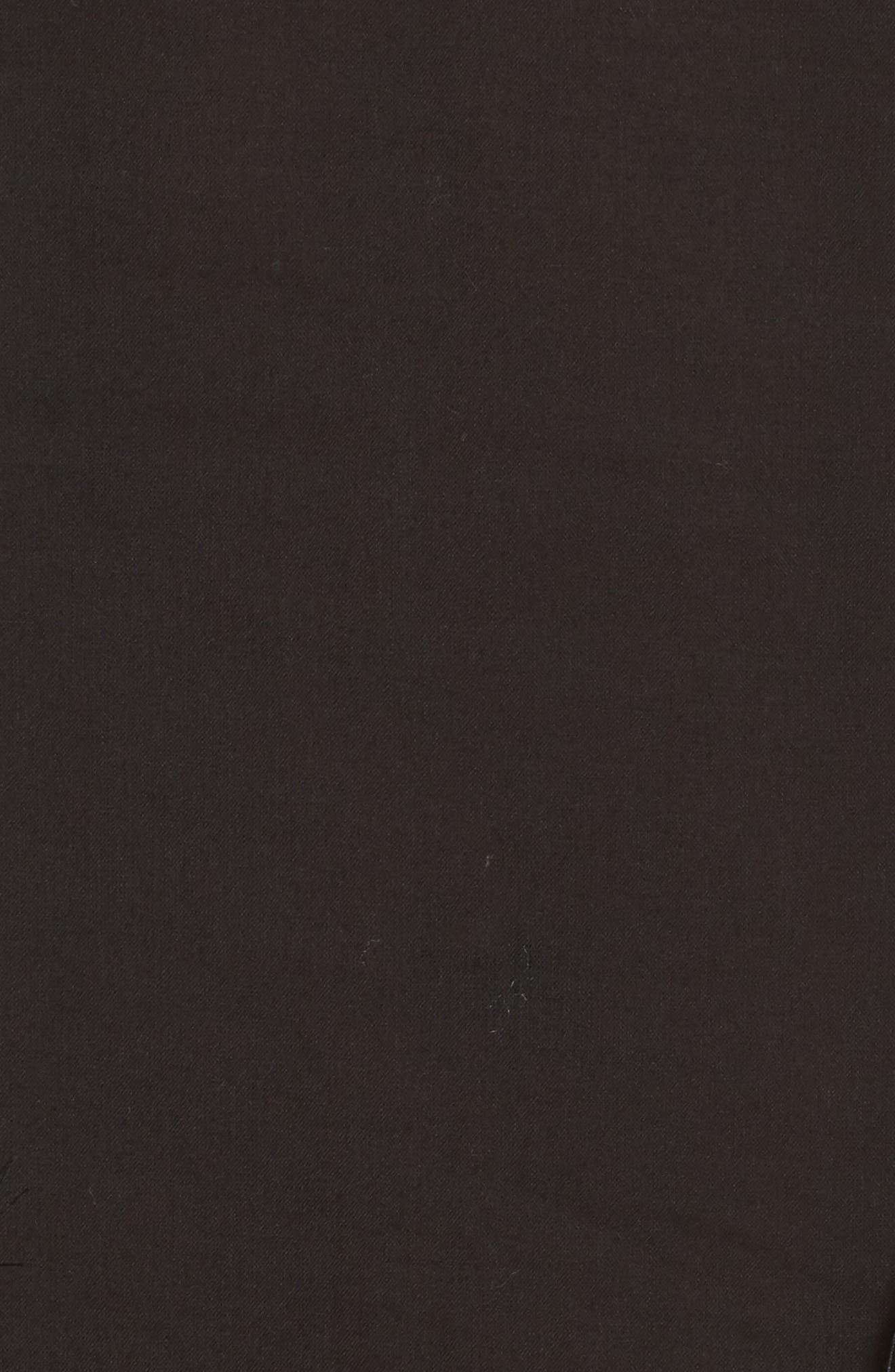 Eyelet Trim Cover-Up Tunic,                             Alternate thumbnail 5, color,                             Black