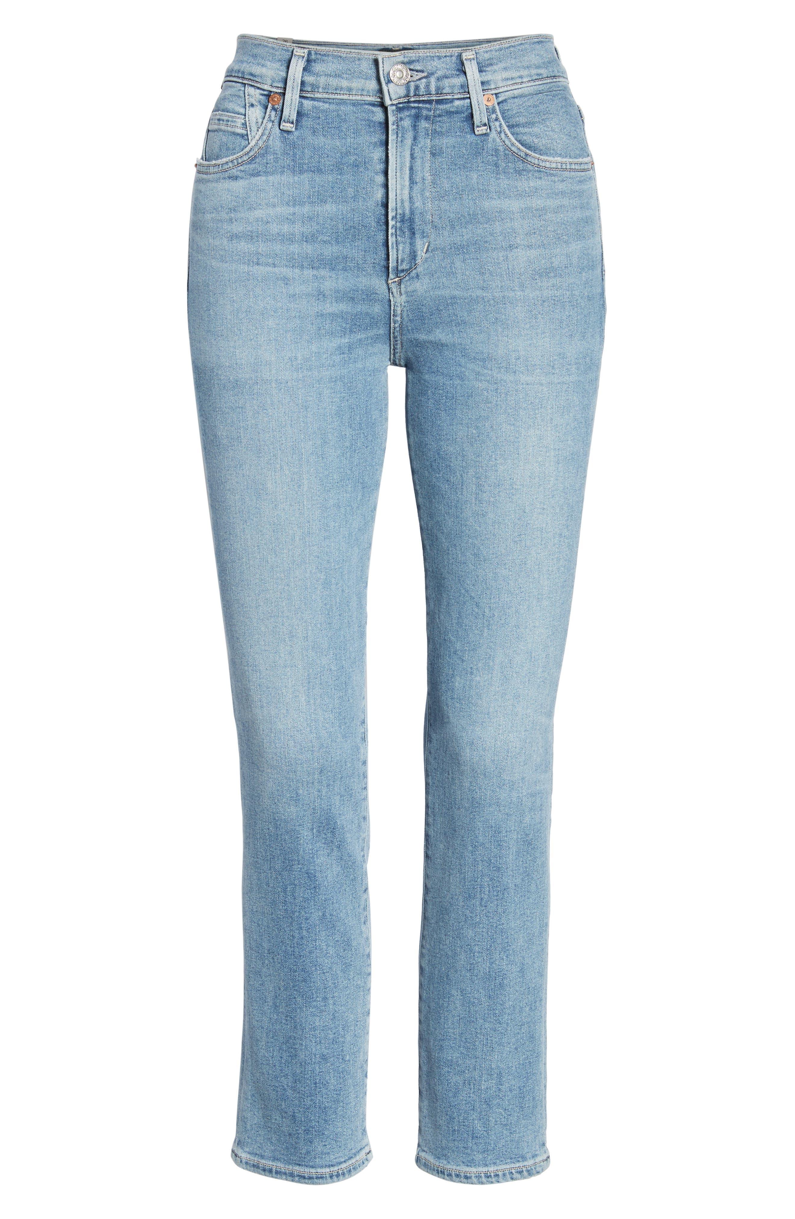 Cara Ankle Cigarette Jeans,                             Alternate thumbnail 7, color,                             Firestone