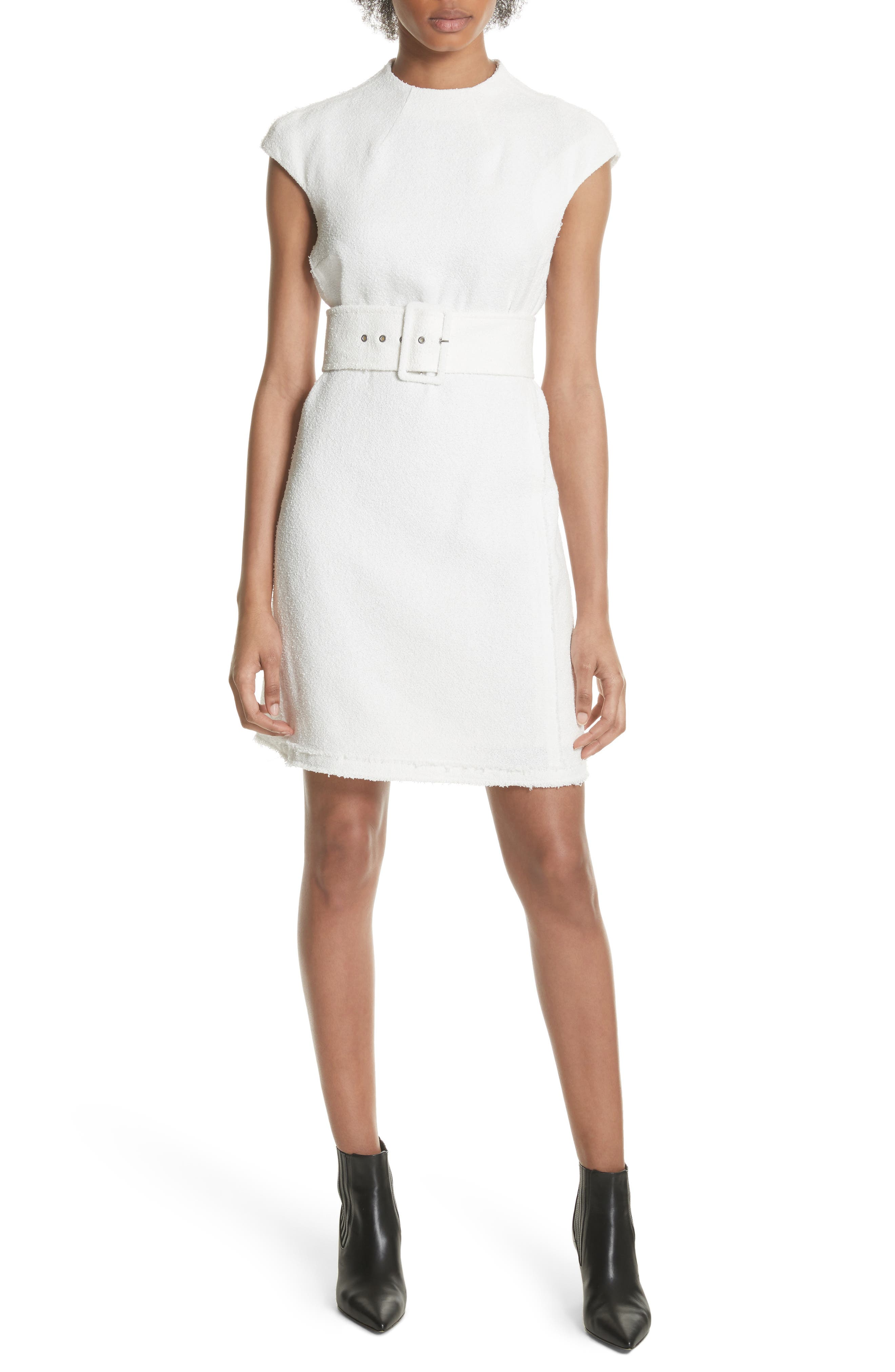 Belted Mod Dress,                             Main thumbnail 1, color,                             Ivory