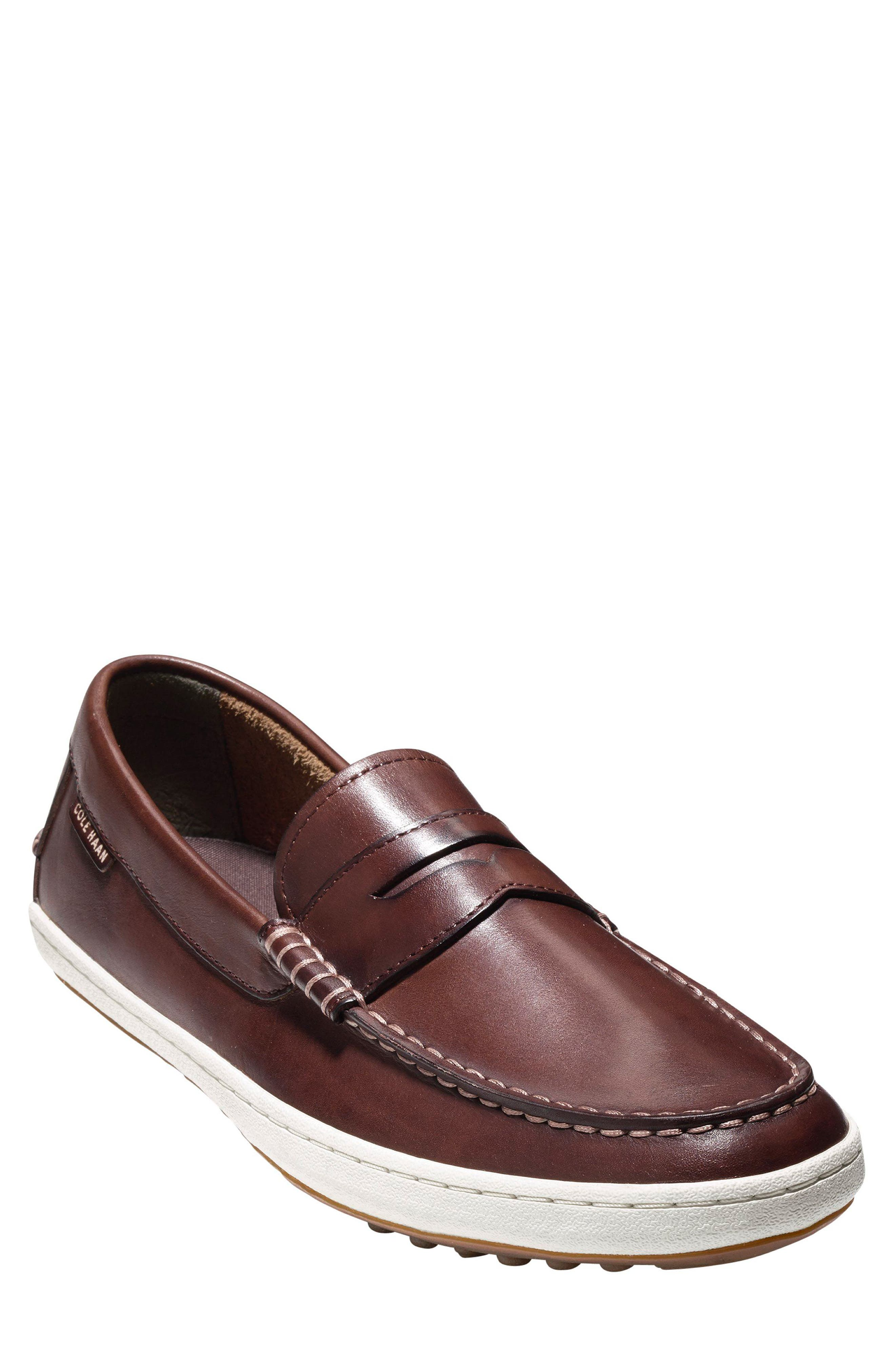 'Pinch Roadtrip' Penny Loafer,                             Main thumbnail 1, color,                             Woodbury Leather