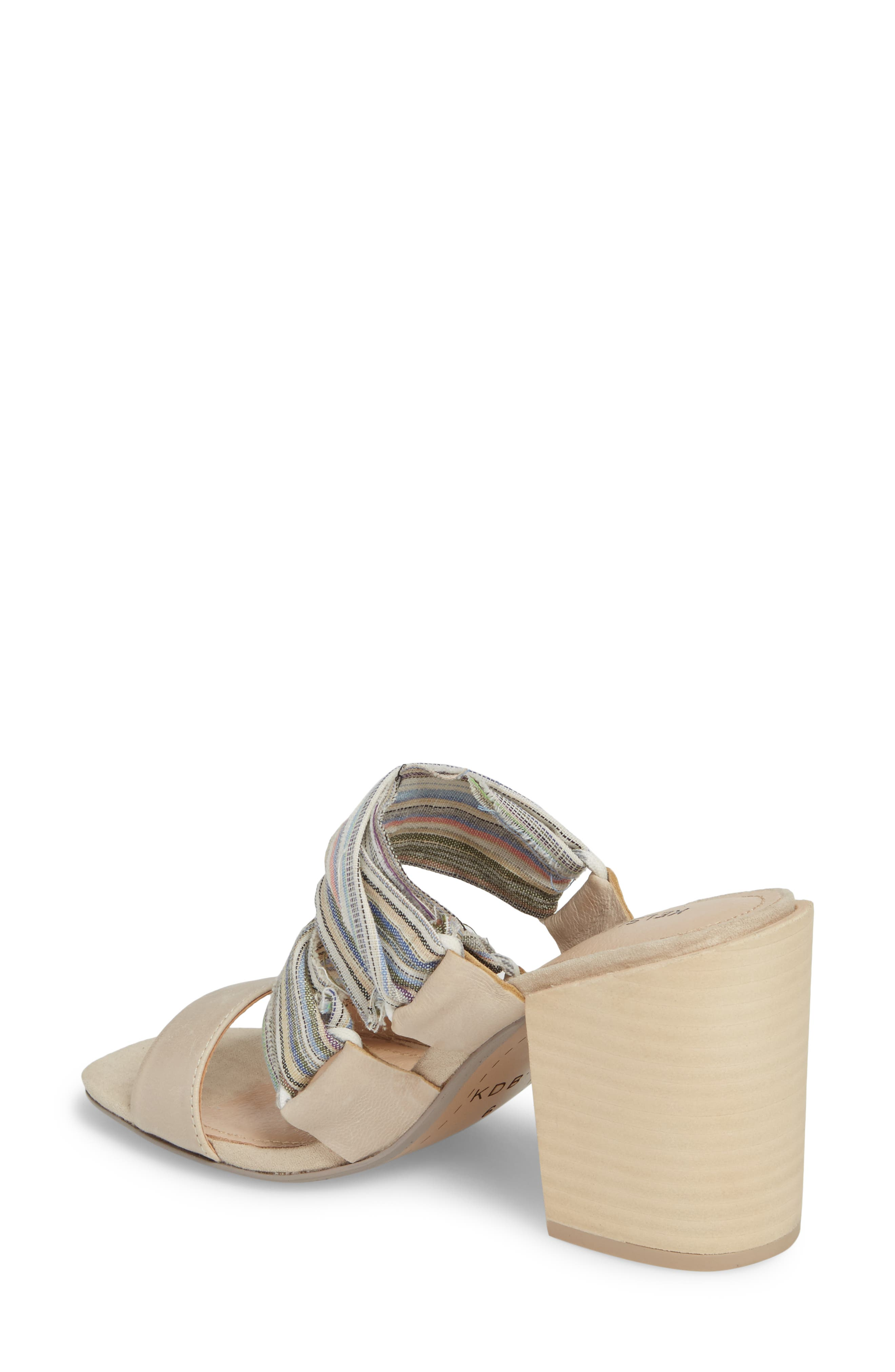 Monaco Block Heel Sandal,                             Alternate thumbnail 2, color,                             Bone/ Multi