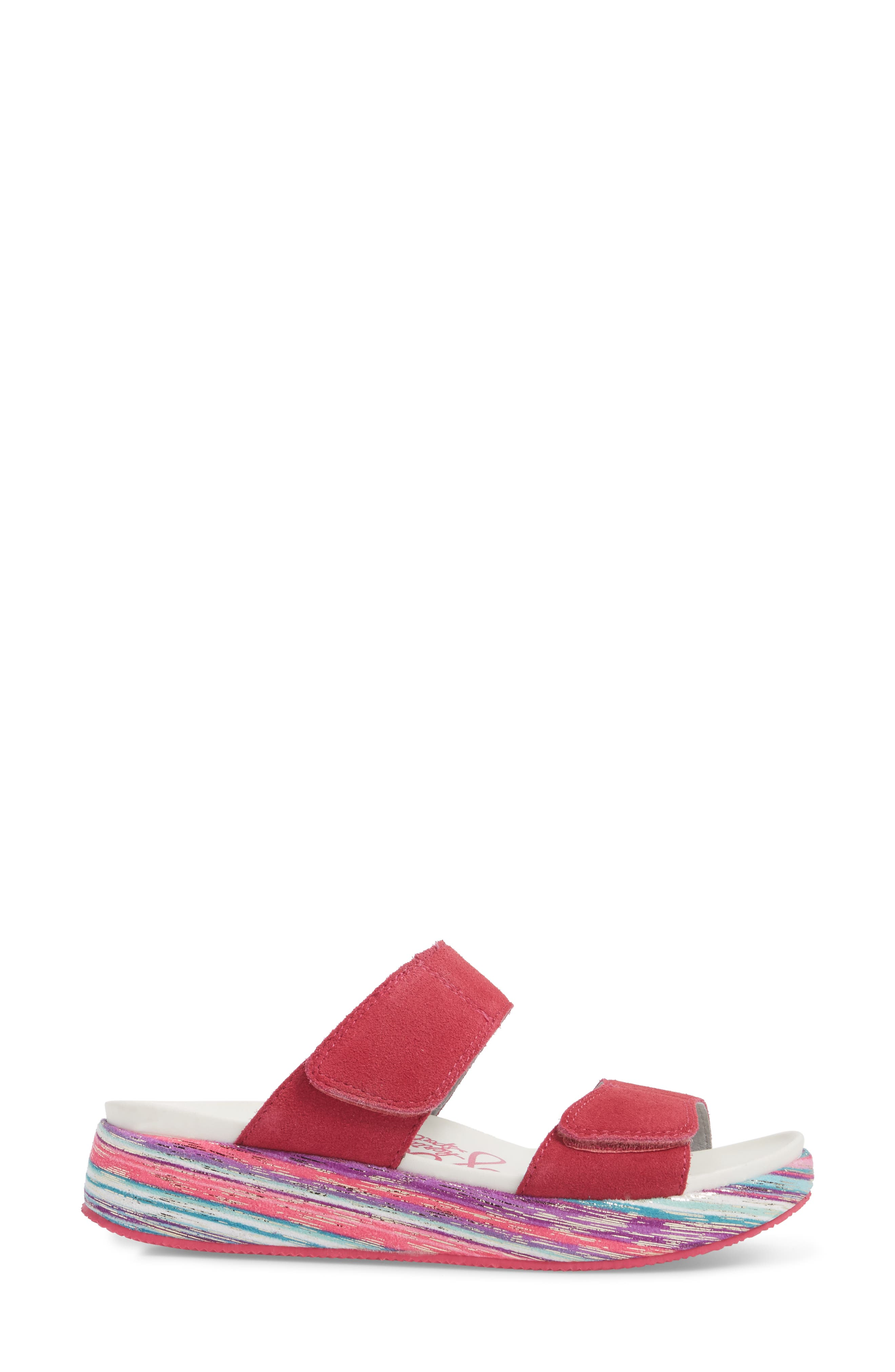 by PG Lite Mixie Slide Sandal,                             Alternate thumbnail 3, color,                             Fuchsia Party Leather