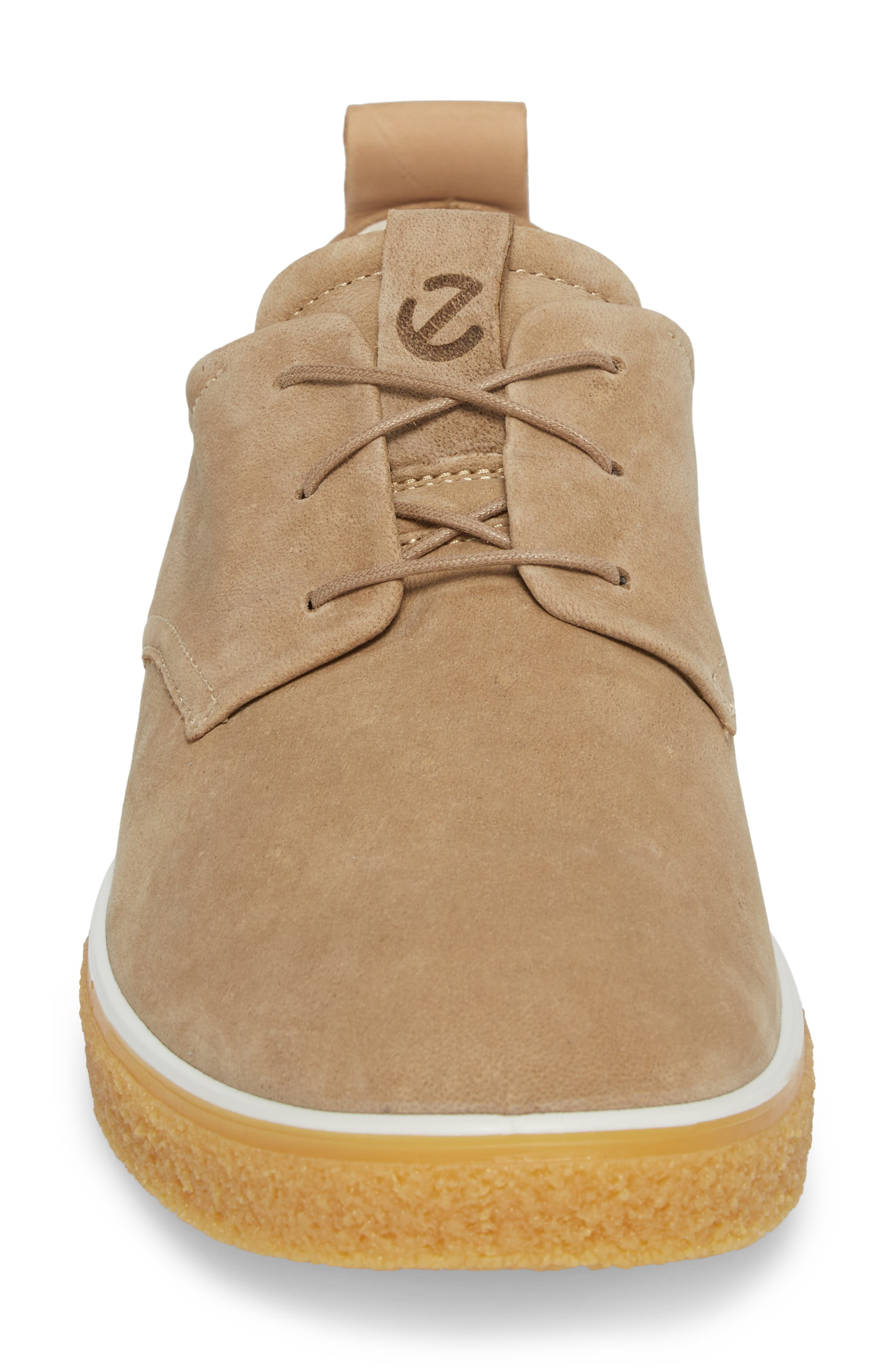 Crepetray Plain Toe Derby,                             Alternate thumbnail 4, color,                             Brown Leather