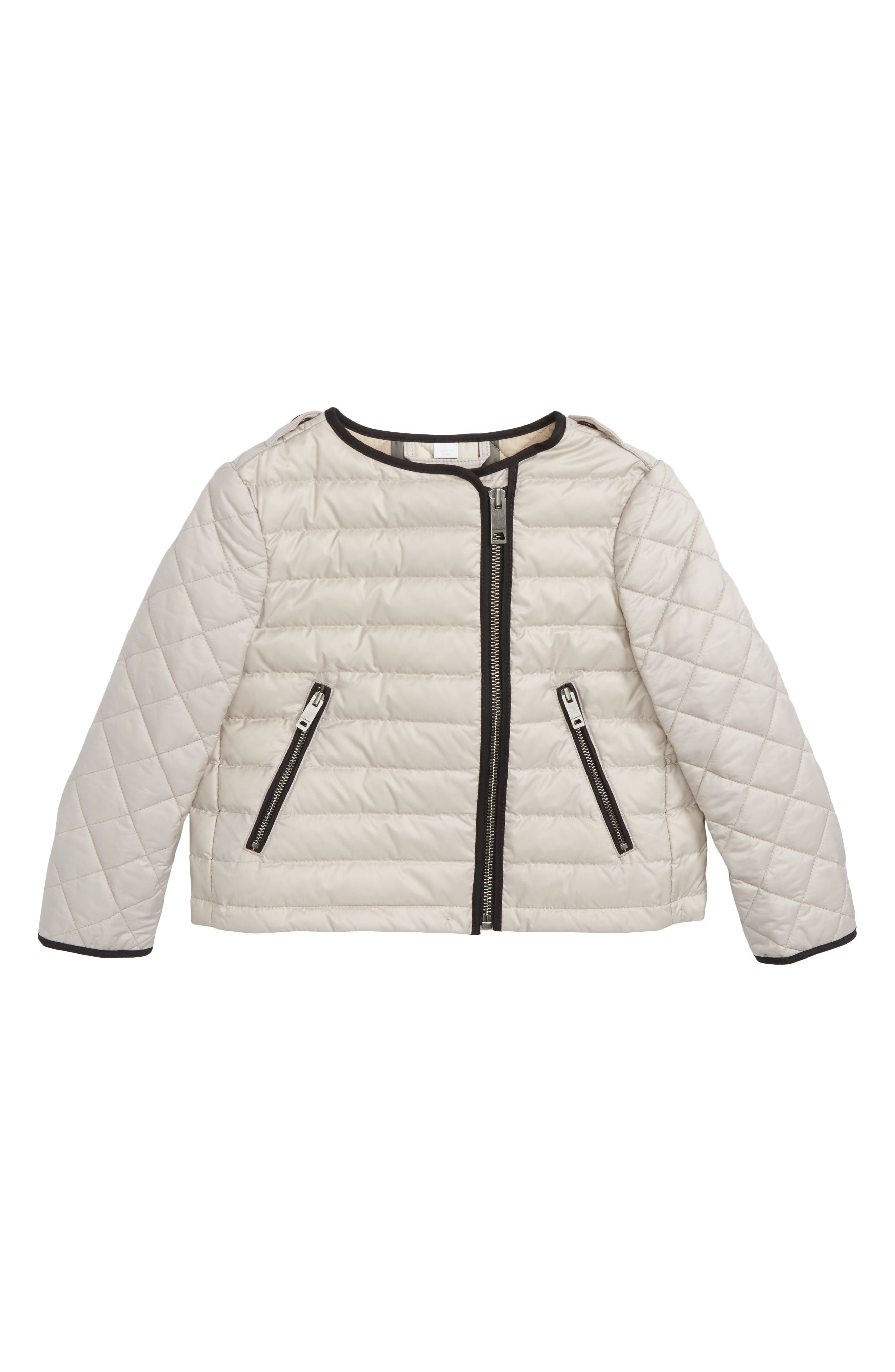 Gina Quilted Down Jacket,                         Main,                         color, Taupe Grey