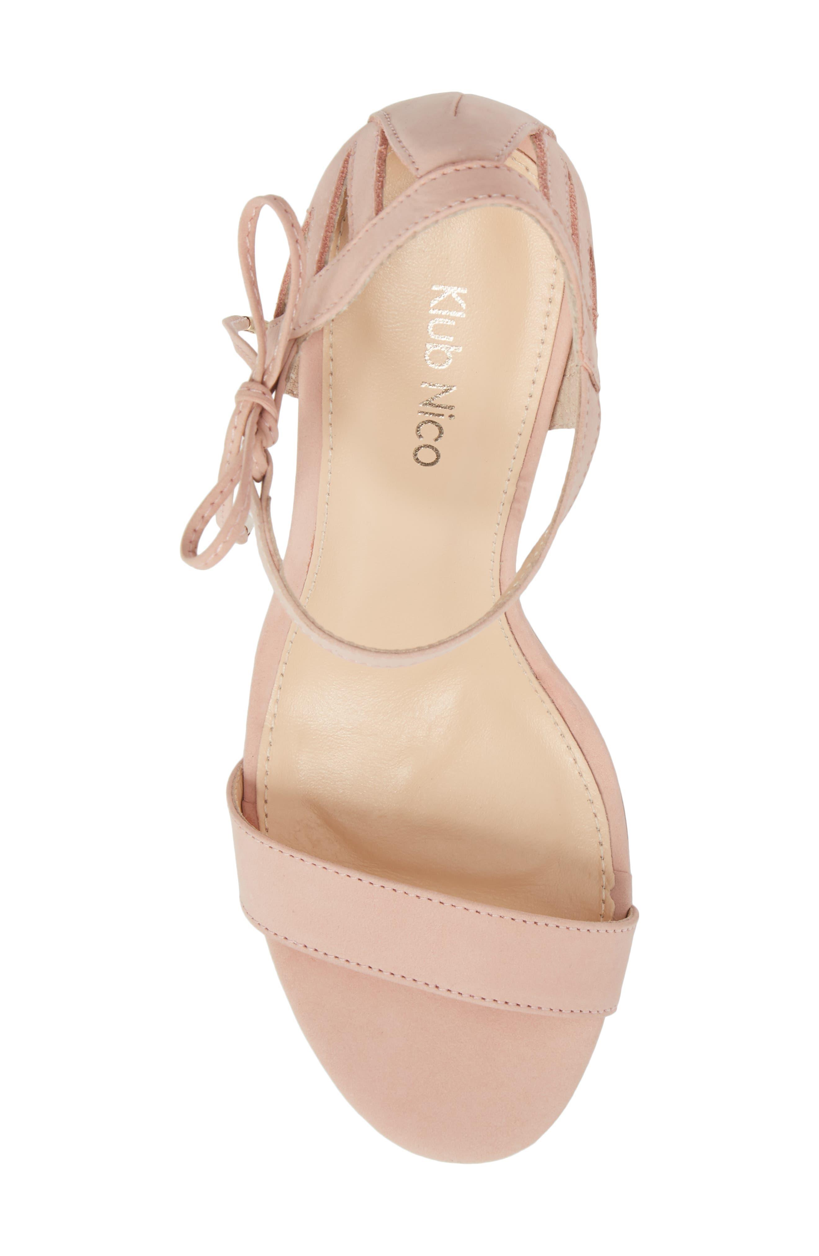 Adelyn Bow Tie Sandal,                             Alternate thumbnail 5, color,                             Quartz Leather