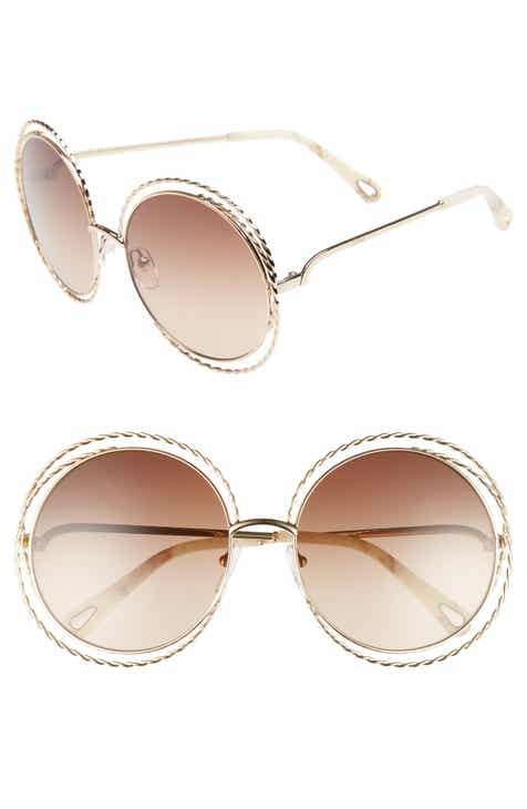 9412213093 Chloé Carlina Torsade 58mm Round Sunglasses