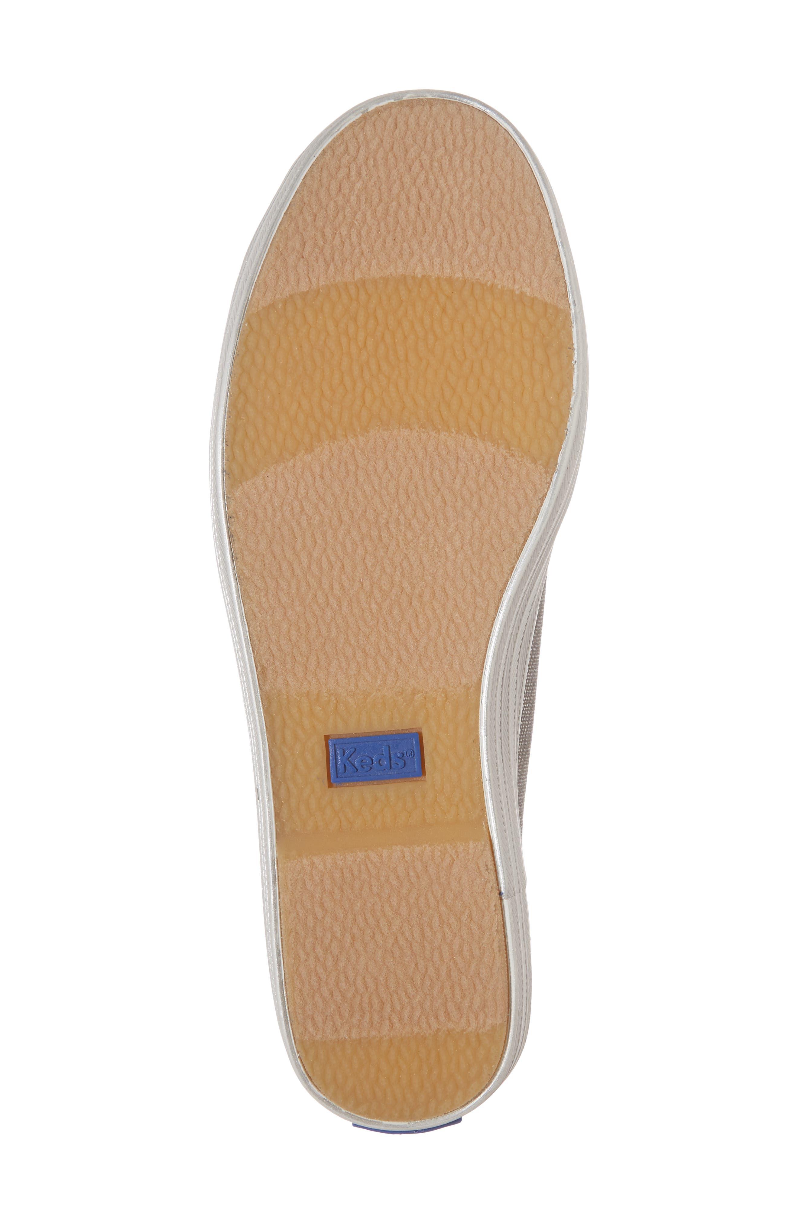 Triple Kick Platform Sneaker,                             Alternate thumbnail 6, color,                             Silver/ Silver