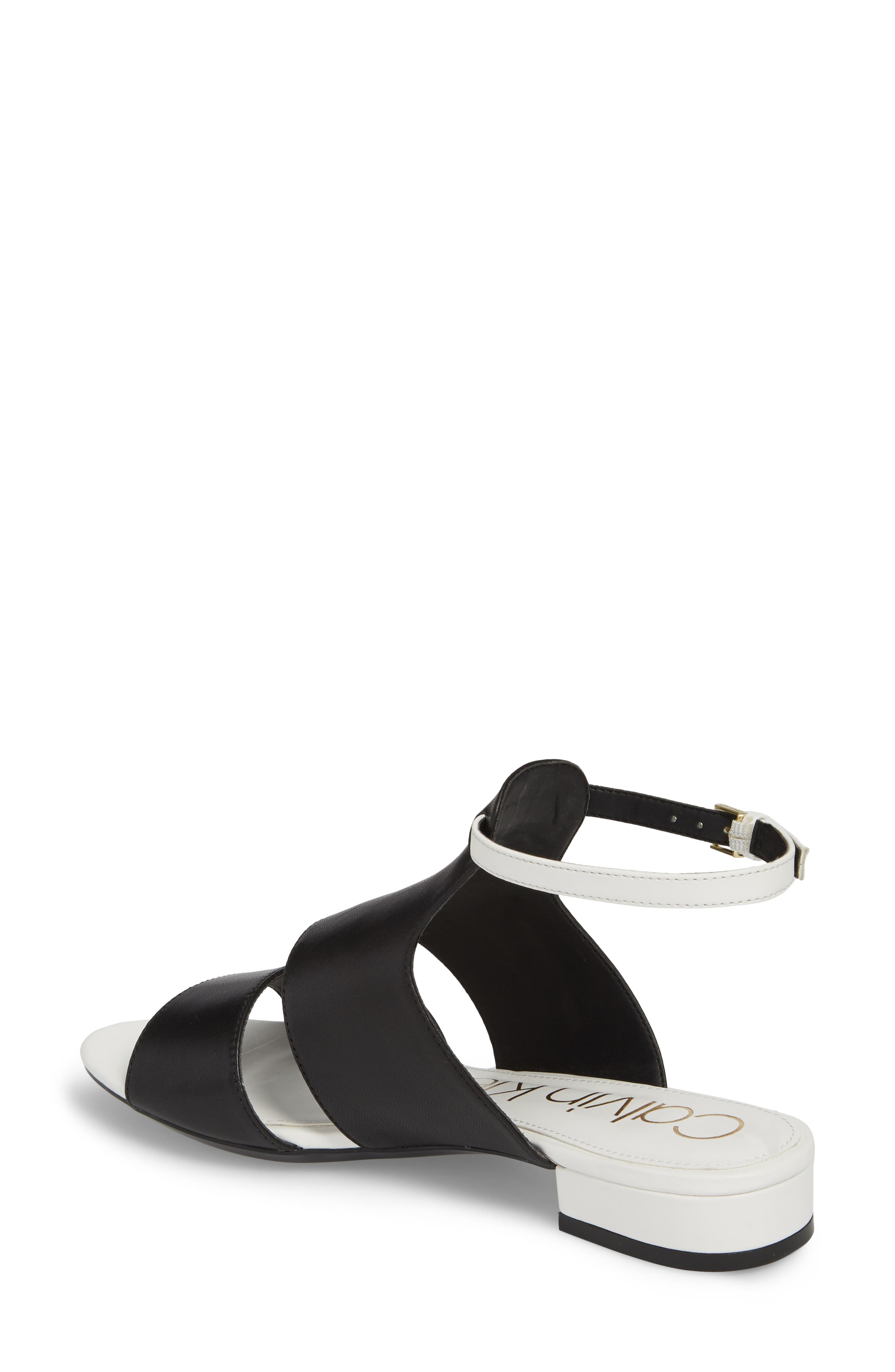 Fernarda Sandal,                             Alternate thumbnail 2, color,                             Black Leather