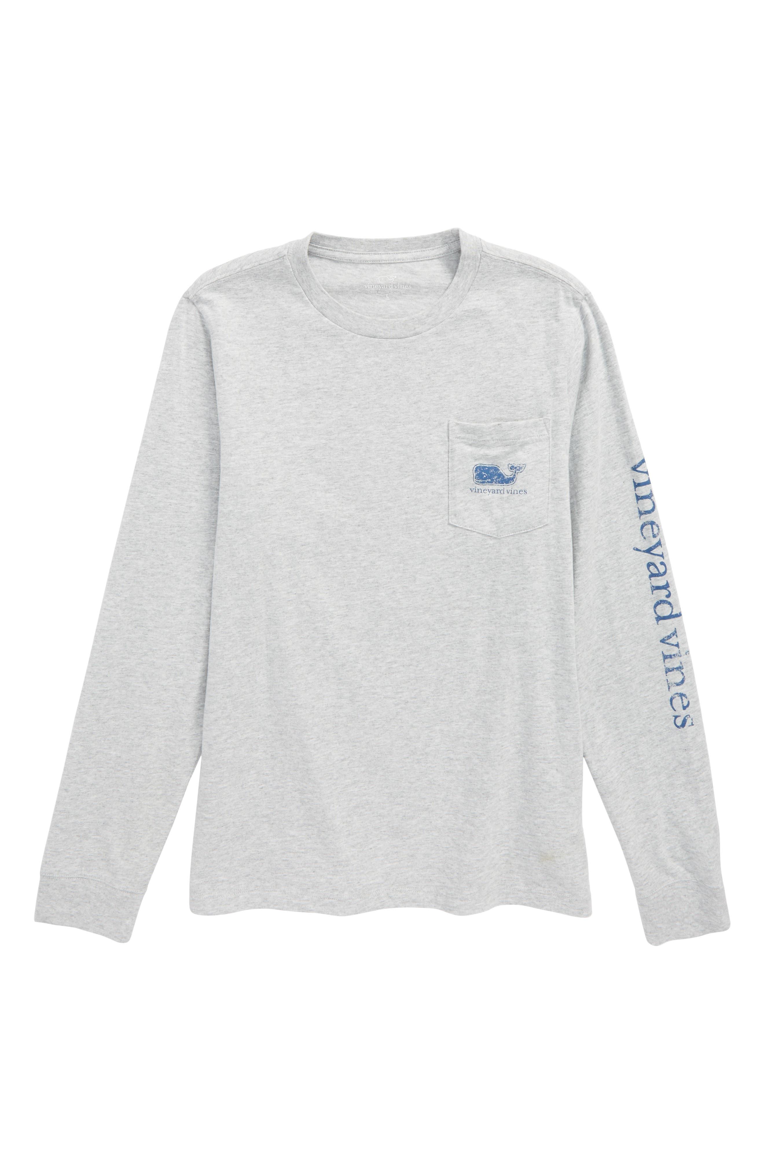 Vintage Whale Pocket T-Shirt,                             Main thumbnail 1, color,                             Gray Heather