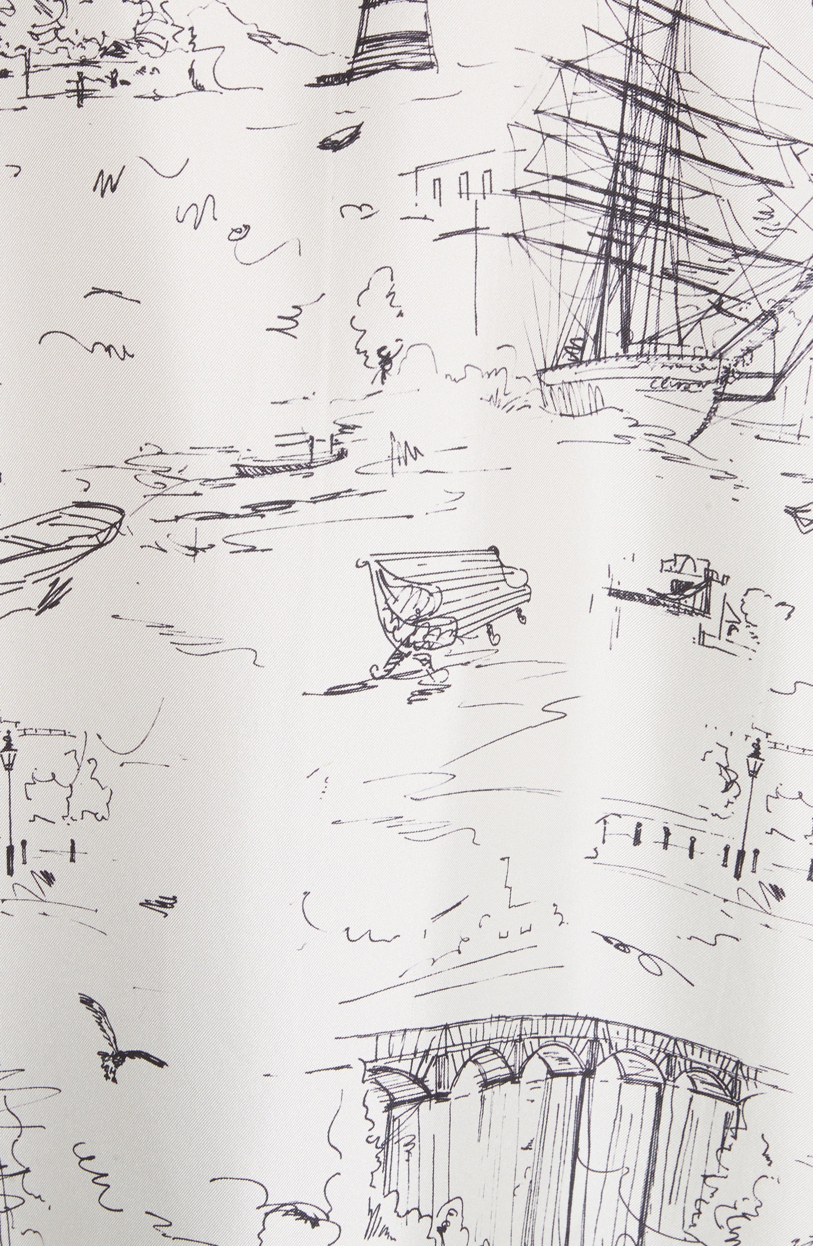 Chava Sketch Silk Shirt,                             Alternate thumbnail 5, color,                             Off White