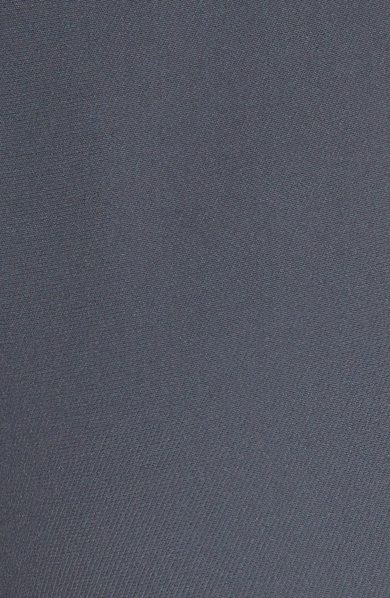 Tie Front Silk Pants,                             Alternate thumbnail 5, color,                             Abisso