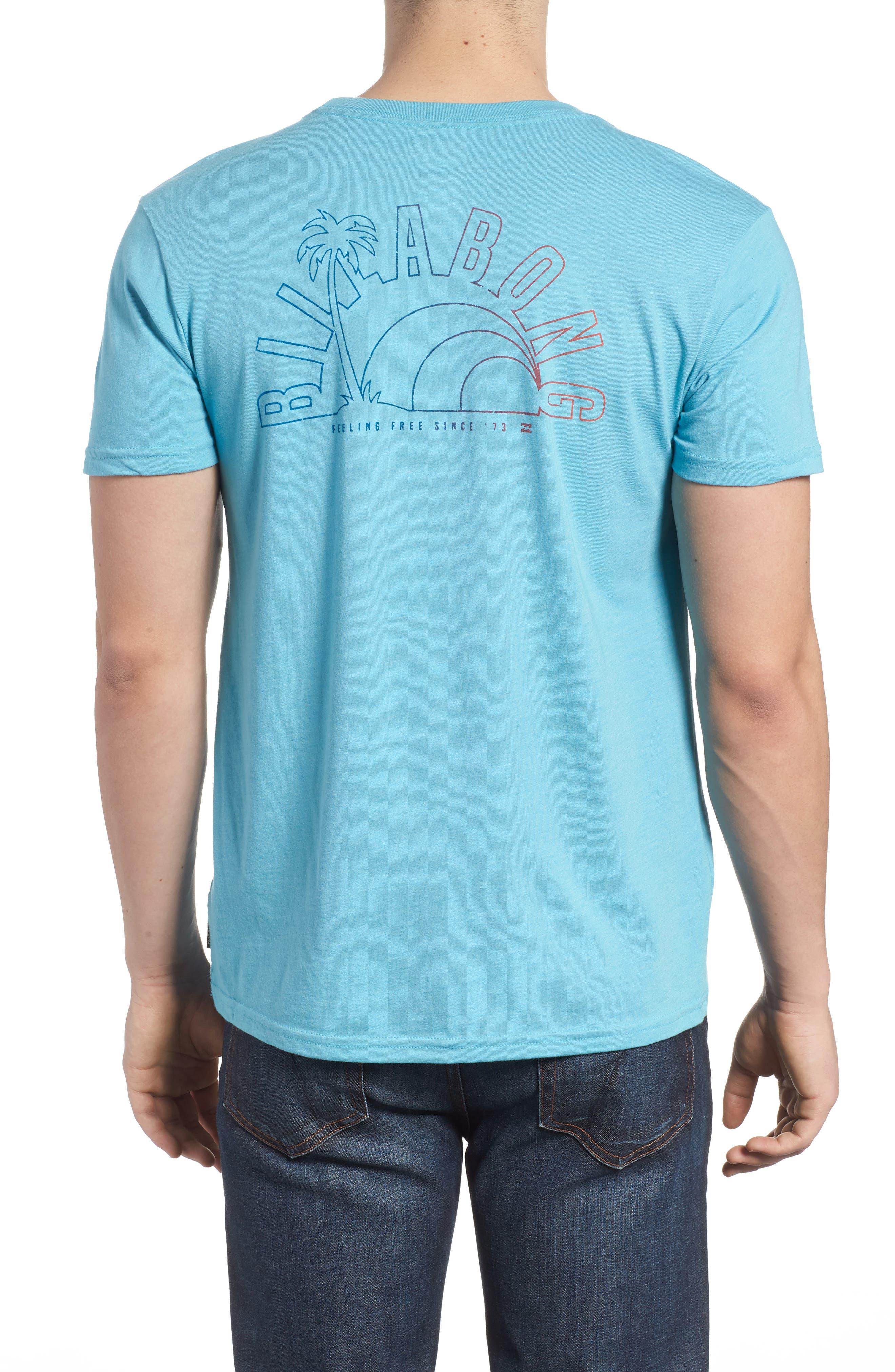 Rainbow Graphic T-Shirt,                             Alternate thumbnail 2, color,                             Aqua Heather