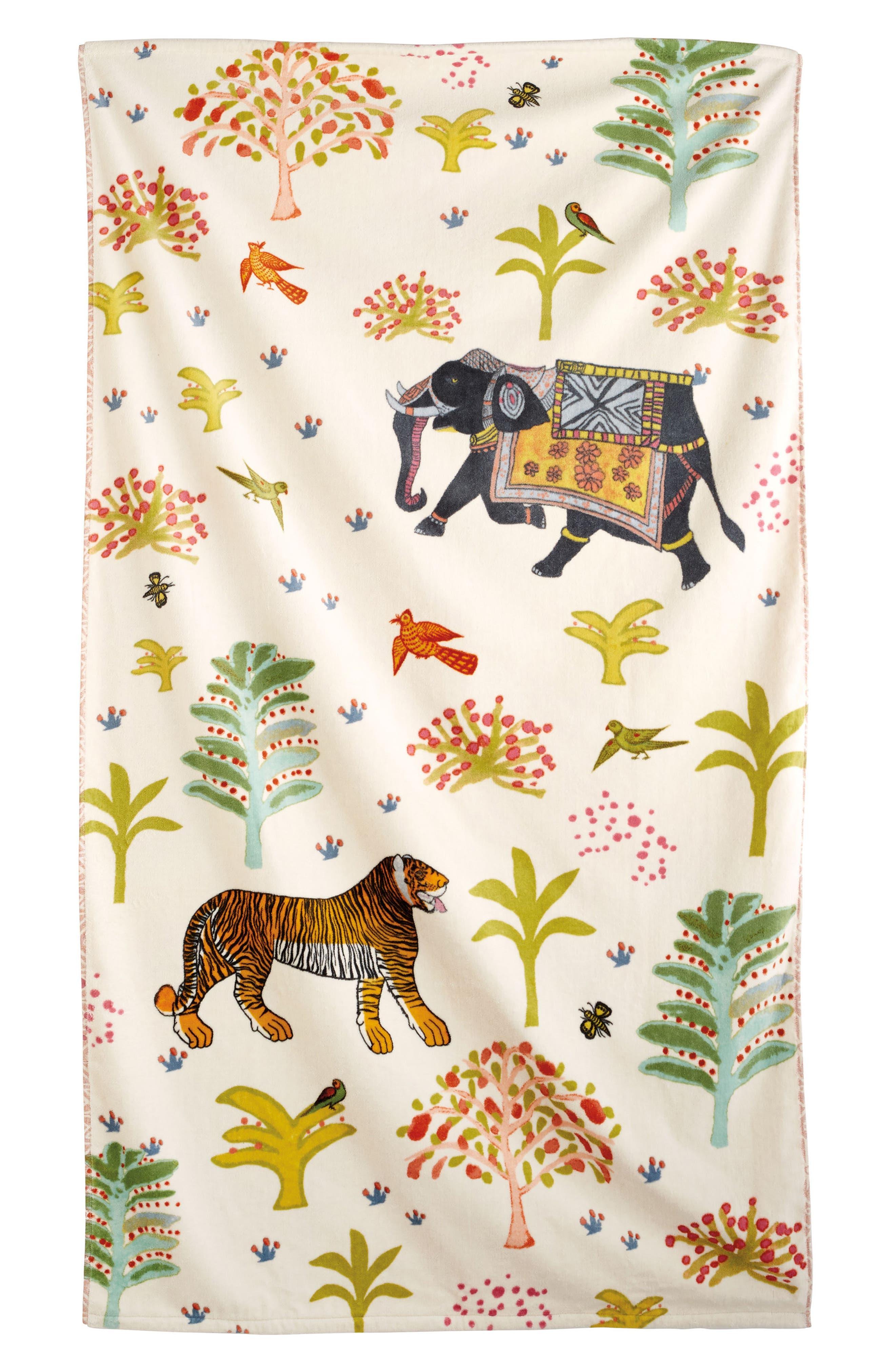 Masai Mara Resort Towel,                             Main thumbnail 1, color,                             Cream Ground
