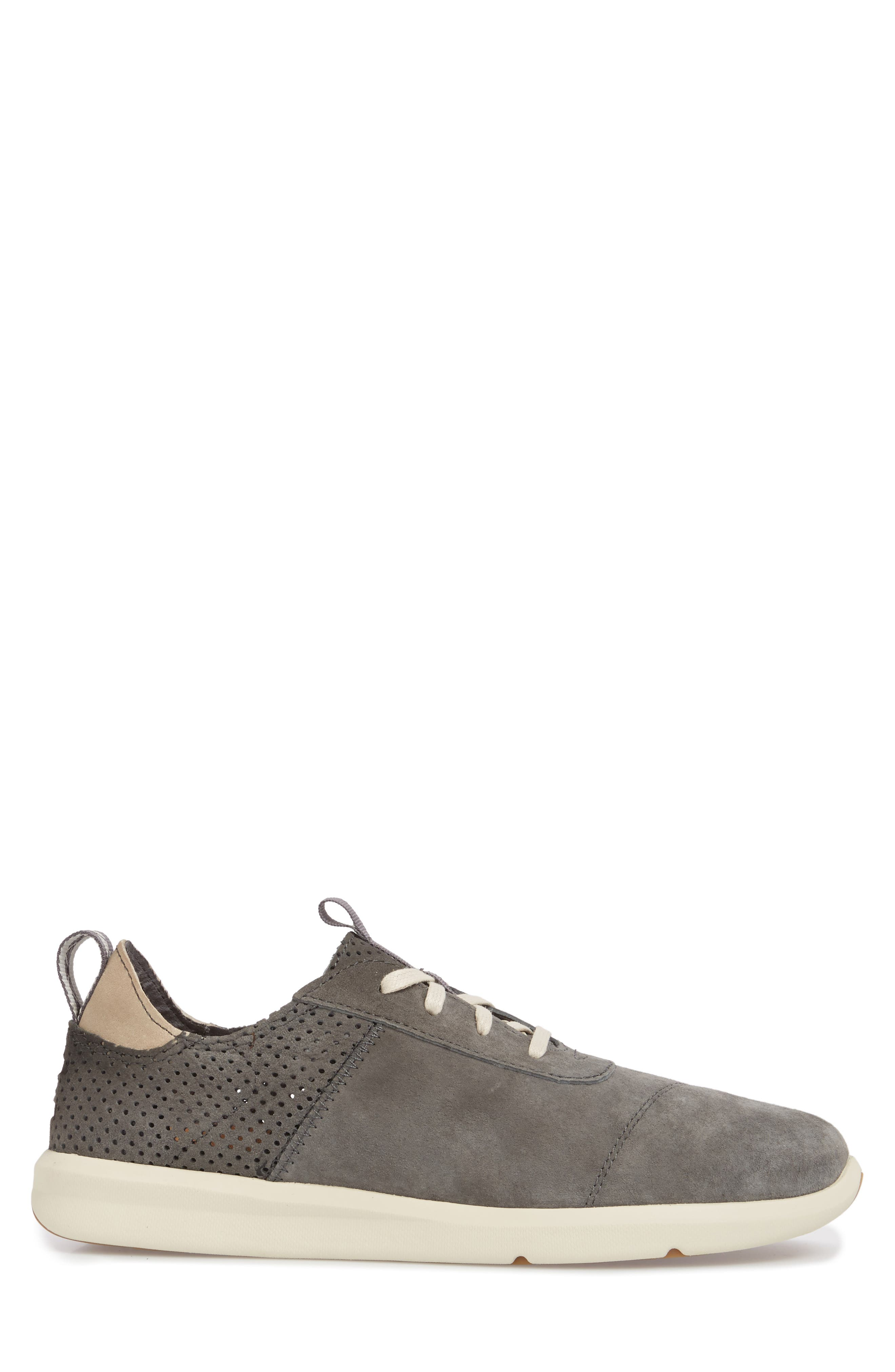 Cabrillo Perforated Low Top Sneaker,                             Alternate thumbnail 3, color,                             Shade Suede