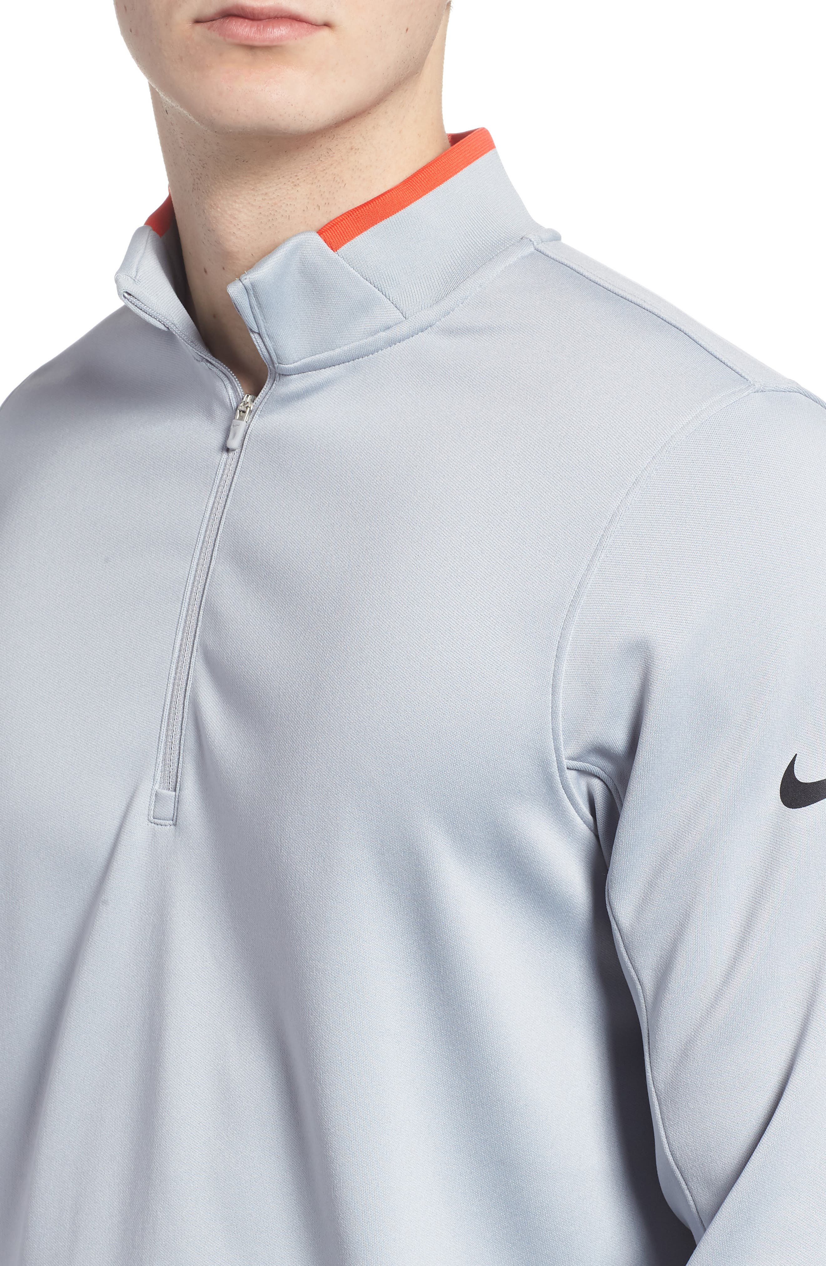 Dry Core Half Zip Pullover,                             Alternate thumbnail 4, color,                             Wolf Grey/ Max Orange/ Black