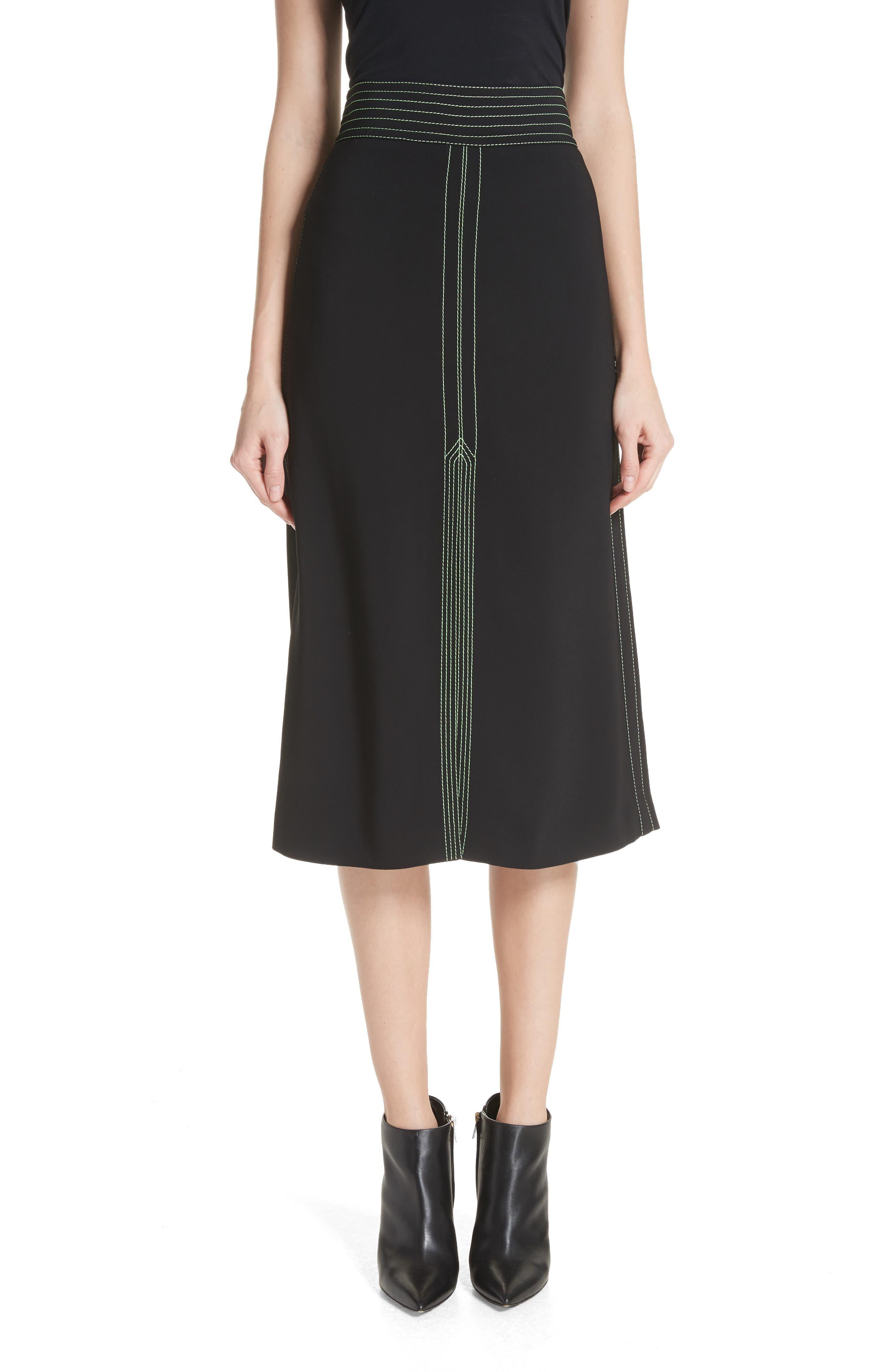 Burberry Churn A-Line Midi Skirt