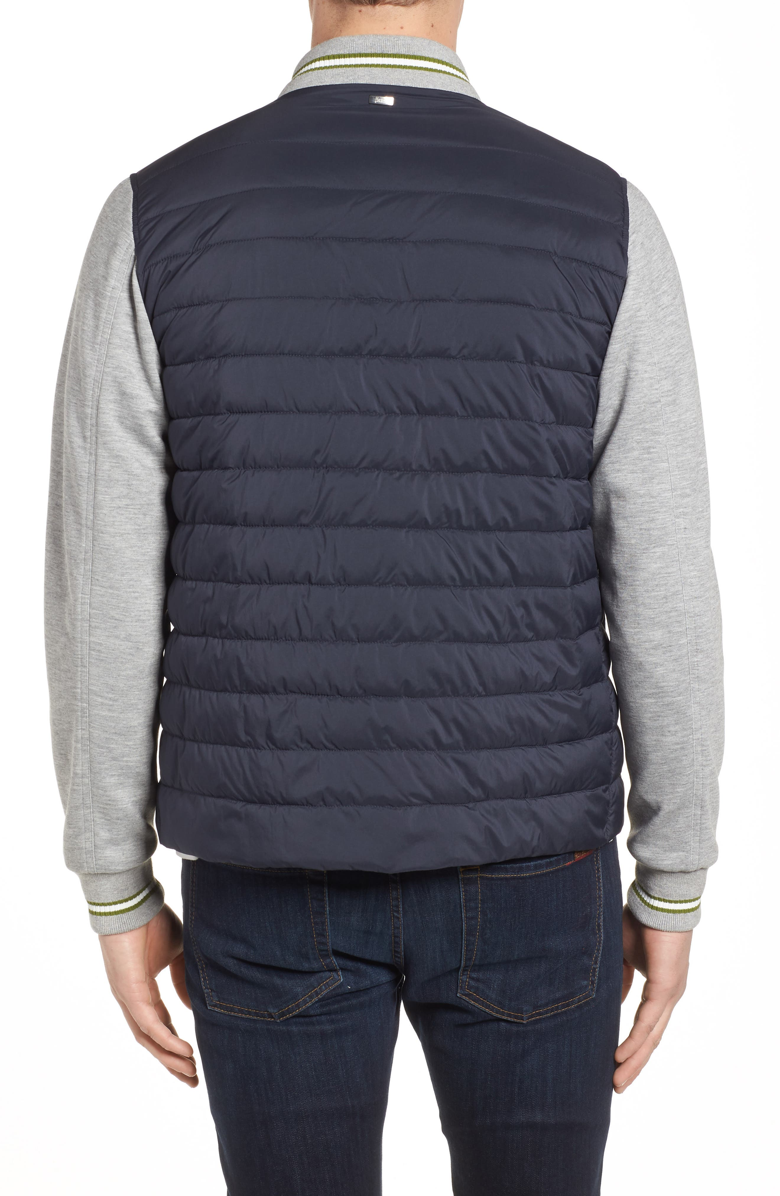 Quilted Baseball Jacket,                             Alternate thumbnail 2, color,                             Navy