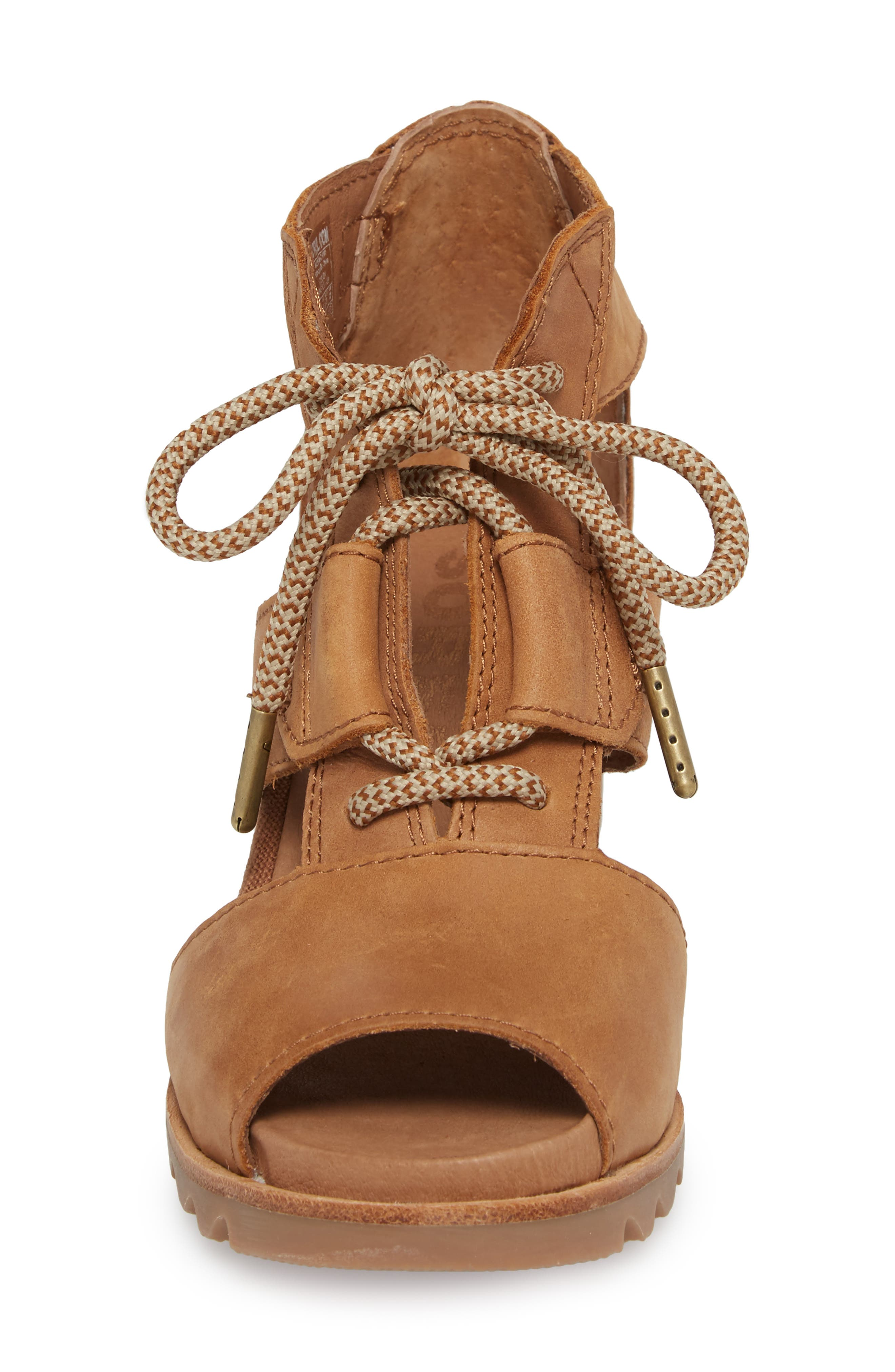 'Joanie' Cage Sandal,                             Alternate thumbnail 3, color,                             Camel Brown