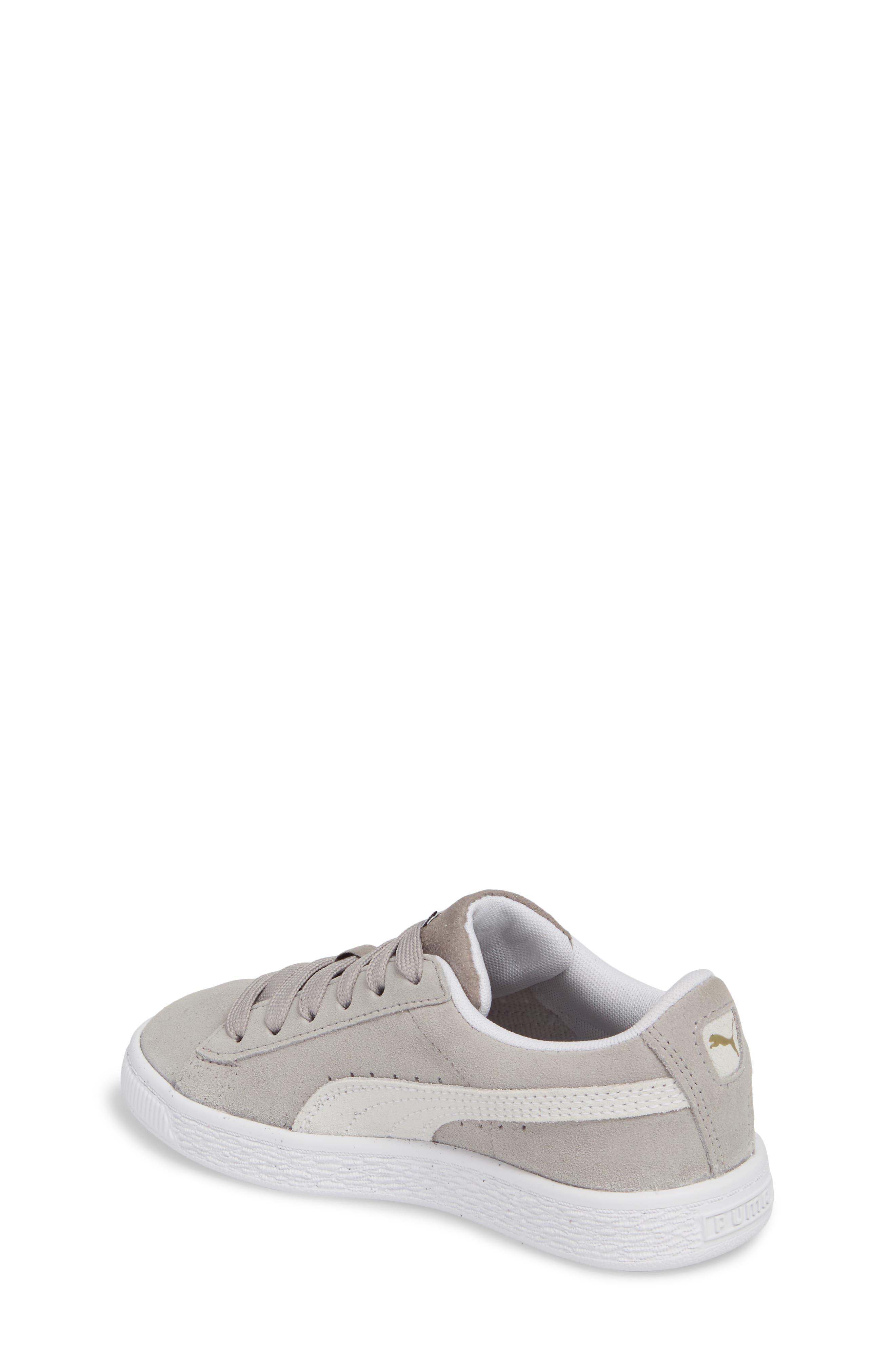 Suede Sneaker,                             Alternate thumbnail 2, color,                             Ash/ Puma White