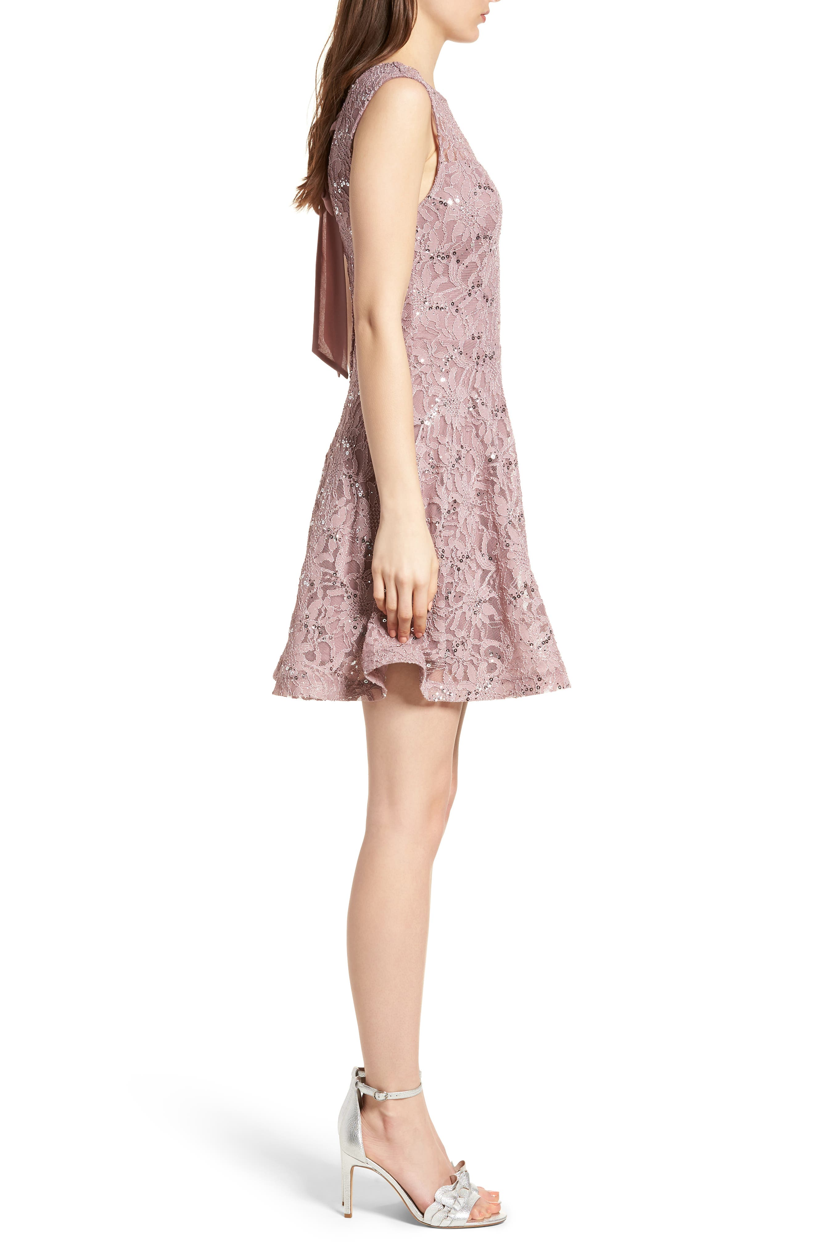 Alternate Image 3  - Speechless Sequin Lace Fit & Flare Dress