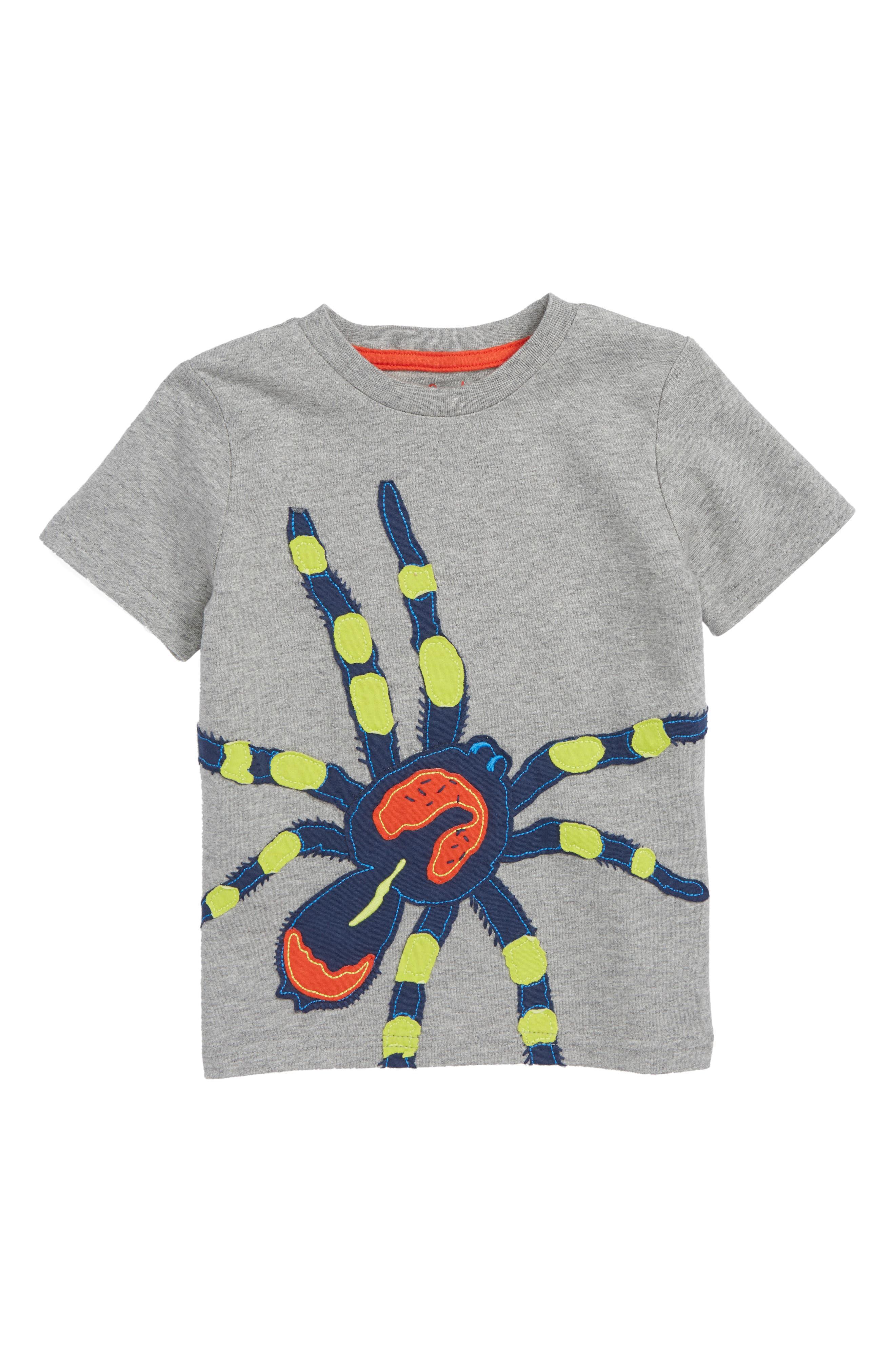 Big Spider Appliqué Shirt,                         Main,                         color, Charcoal Grey Marl Spider