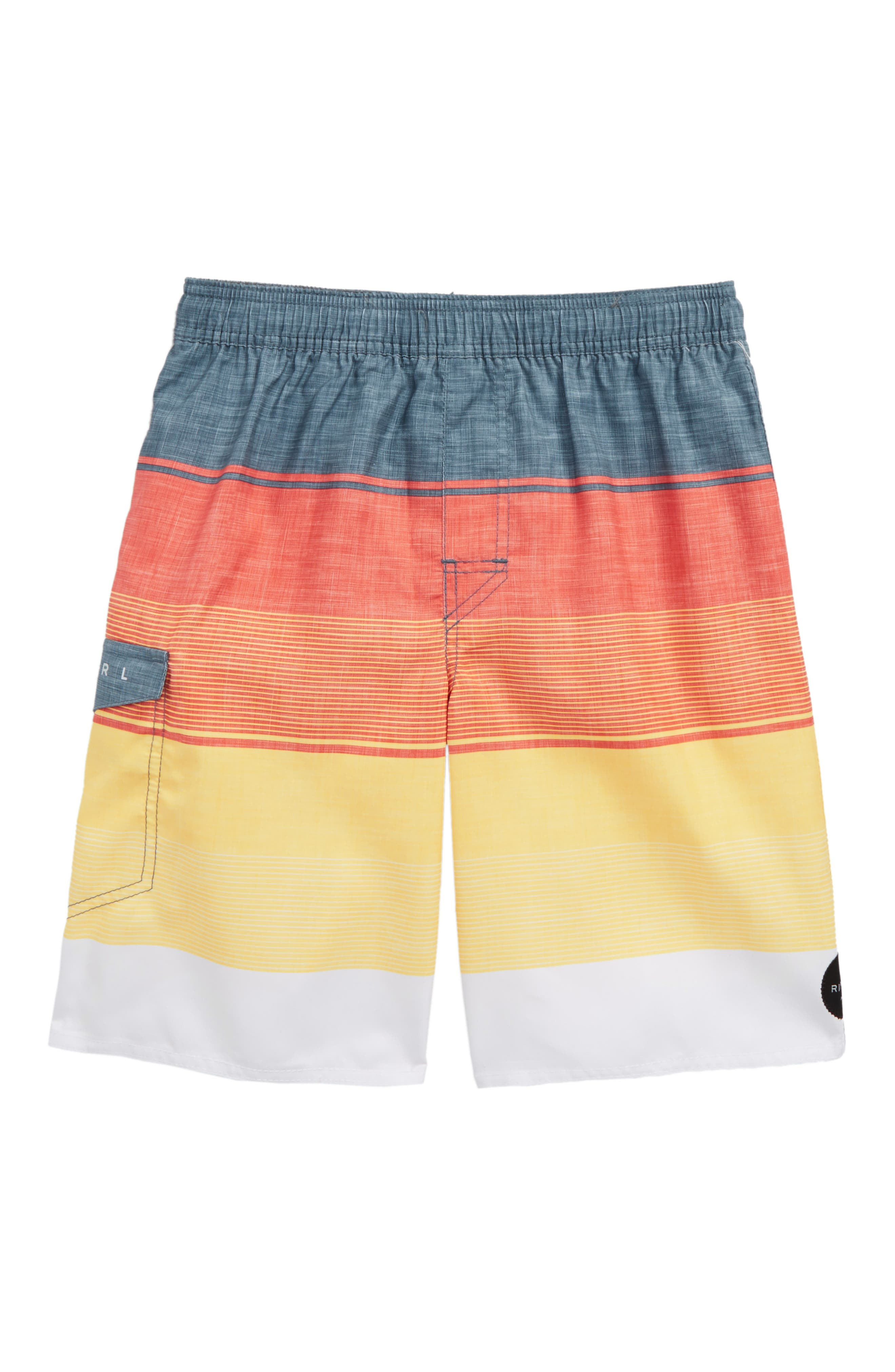 Good Times Volley Shorts,                         Main,                         color, Orange