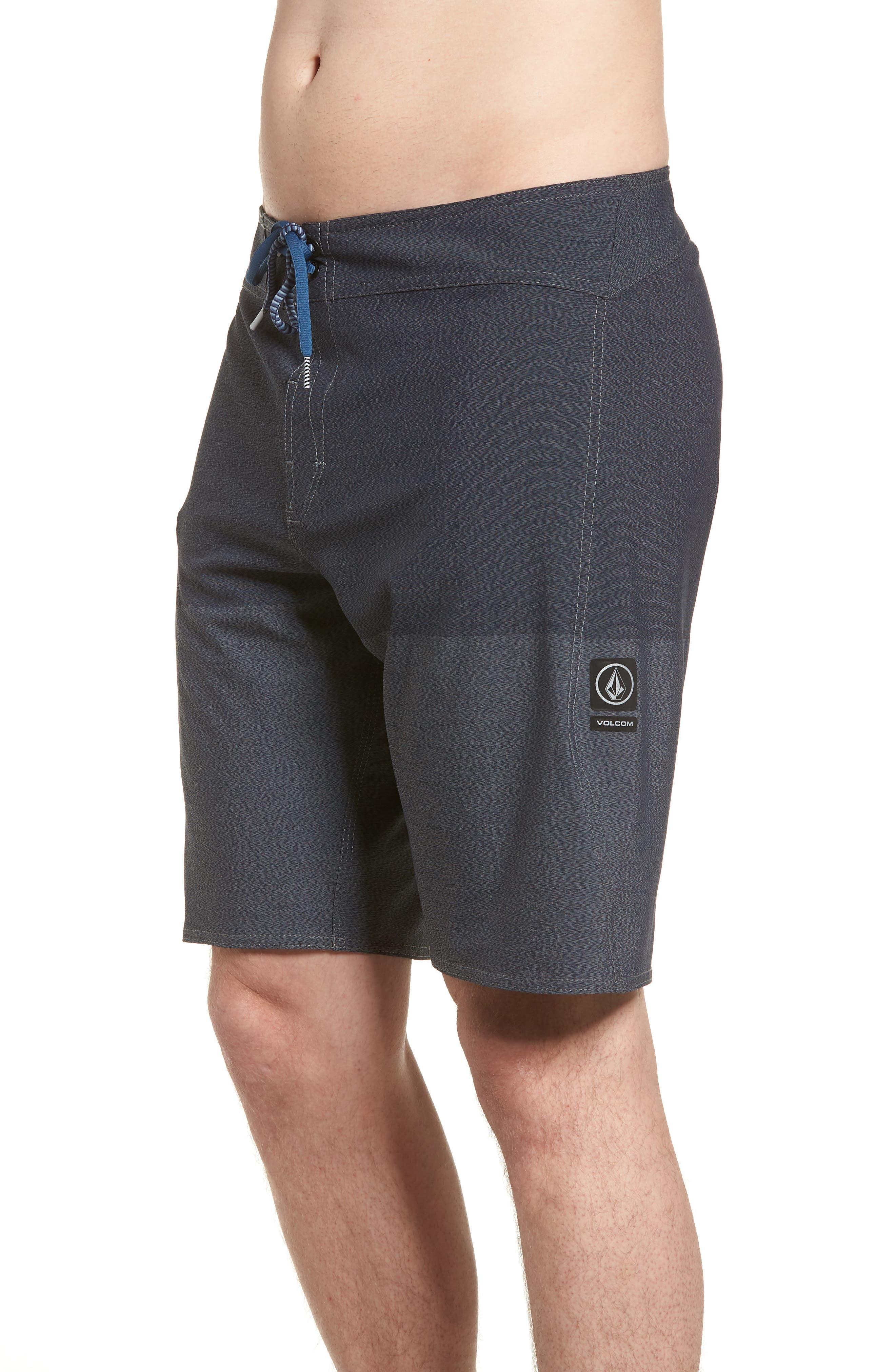 Lido Heather Board Shorts,                             Alternate thumbnail 3, color,                             Blue Smoke