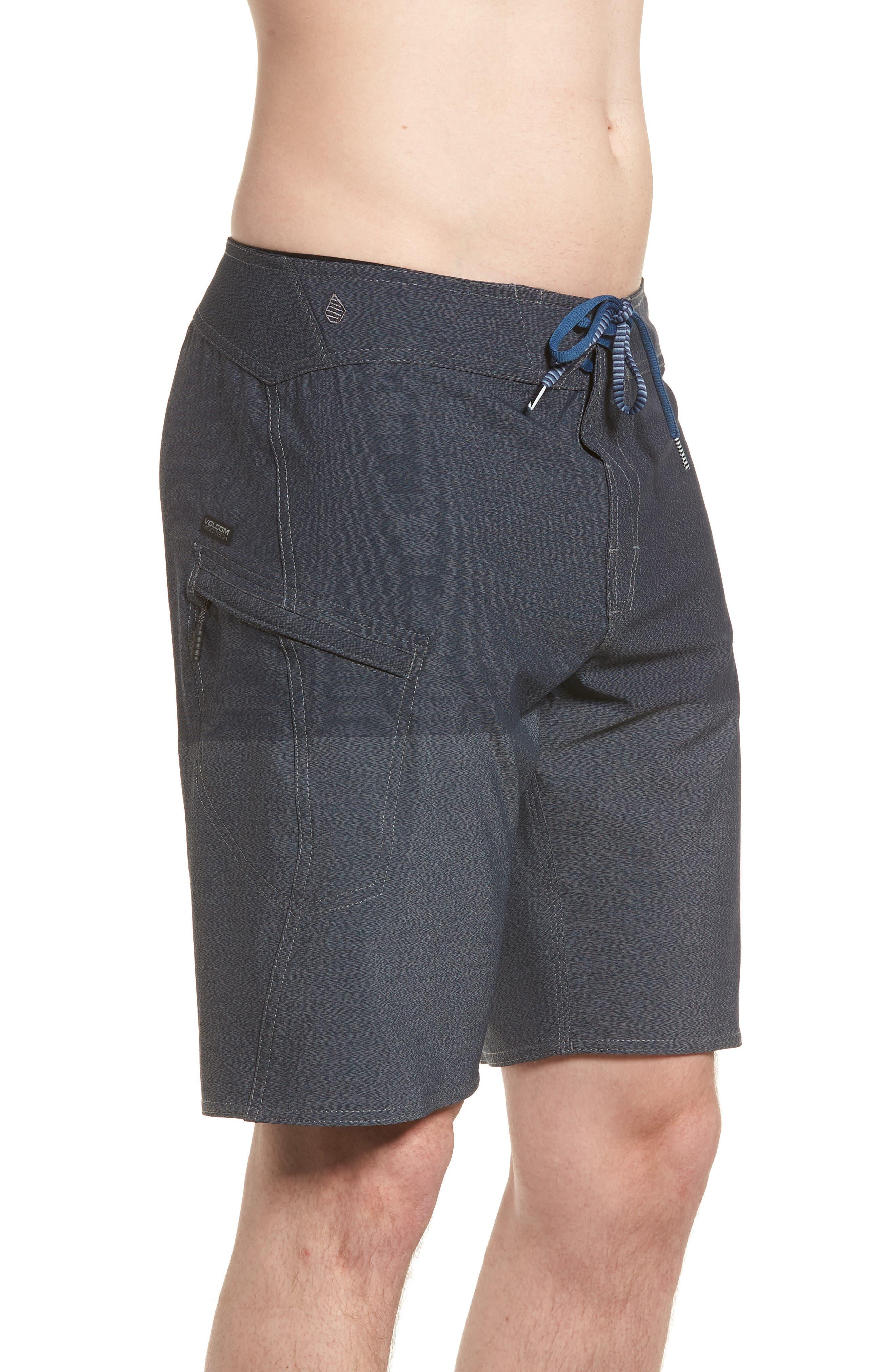 Lido Heather Board Shorts,                             Alternate thumbnail 4, color,                             Blue Smoke