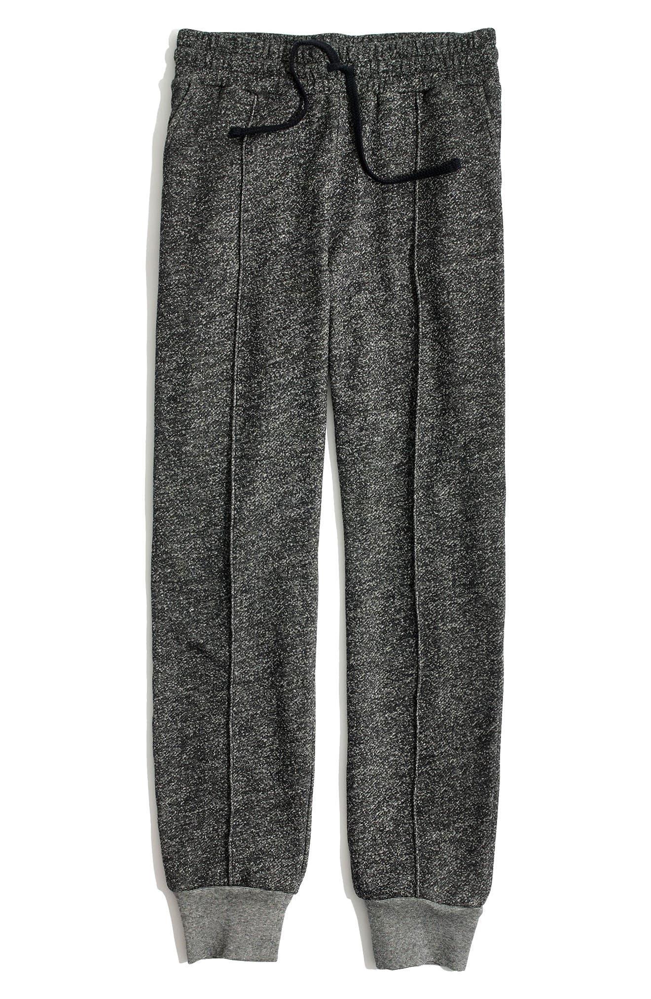 Pintuck Slim Fit Sweatpants,                             Main thumbnail 1, color,                             Heather Barnwood